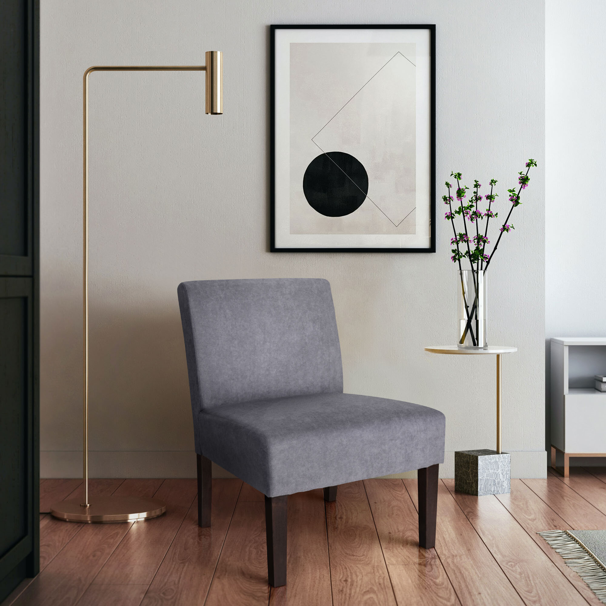 Modern & Contemporary Slipper Accent Chairs You'Ll Love In Inside Harland Modern Armless Slipper Chairs (View 3 of 15)