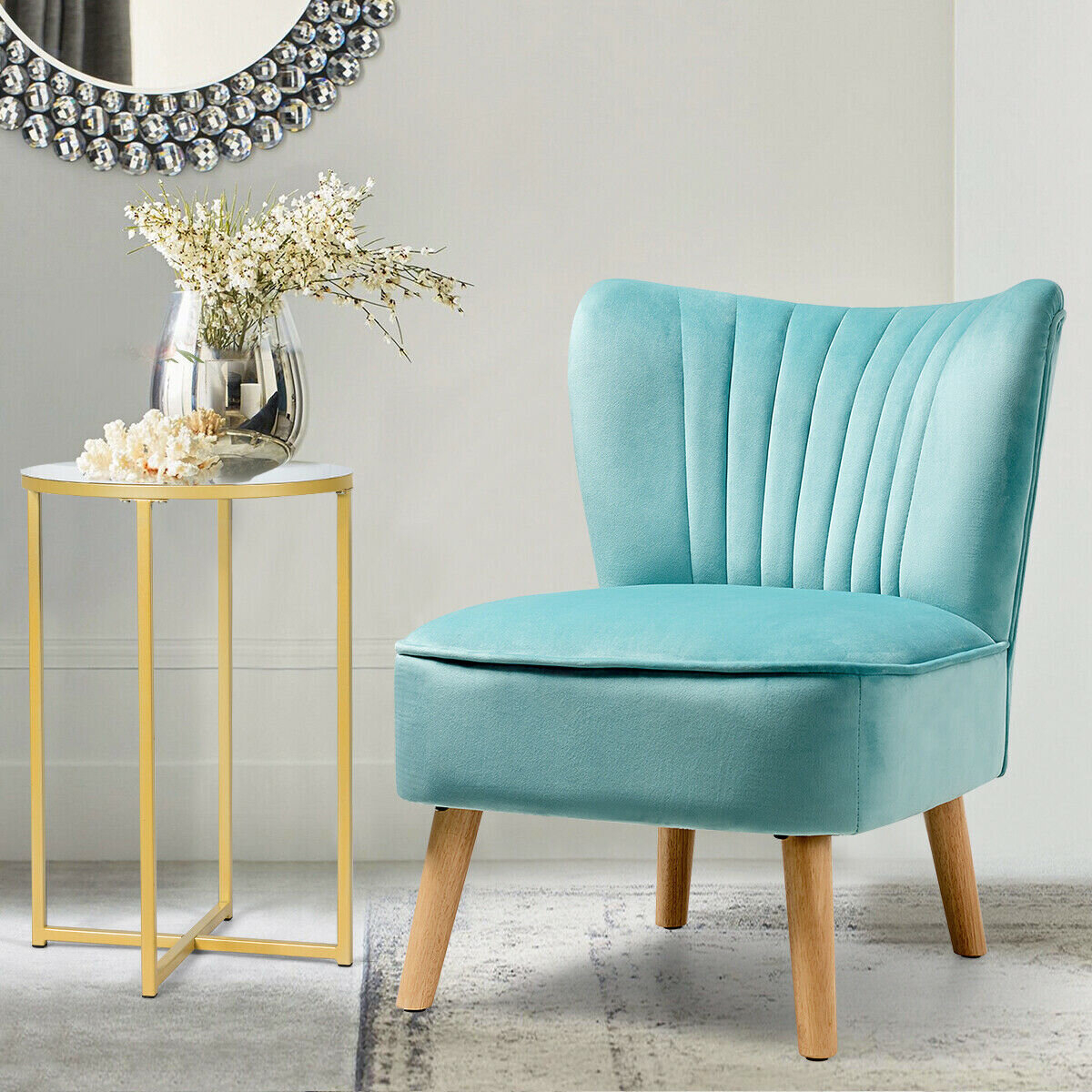 Modern & Contemporary Slipper Accent Chairs You'Ll Love In Pertaining To Alush Accent Slipper Chairs (Set Of 2) (View 6 of 15)