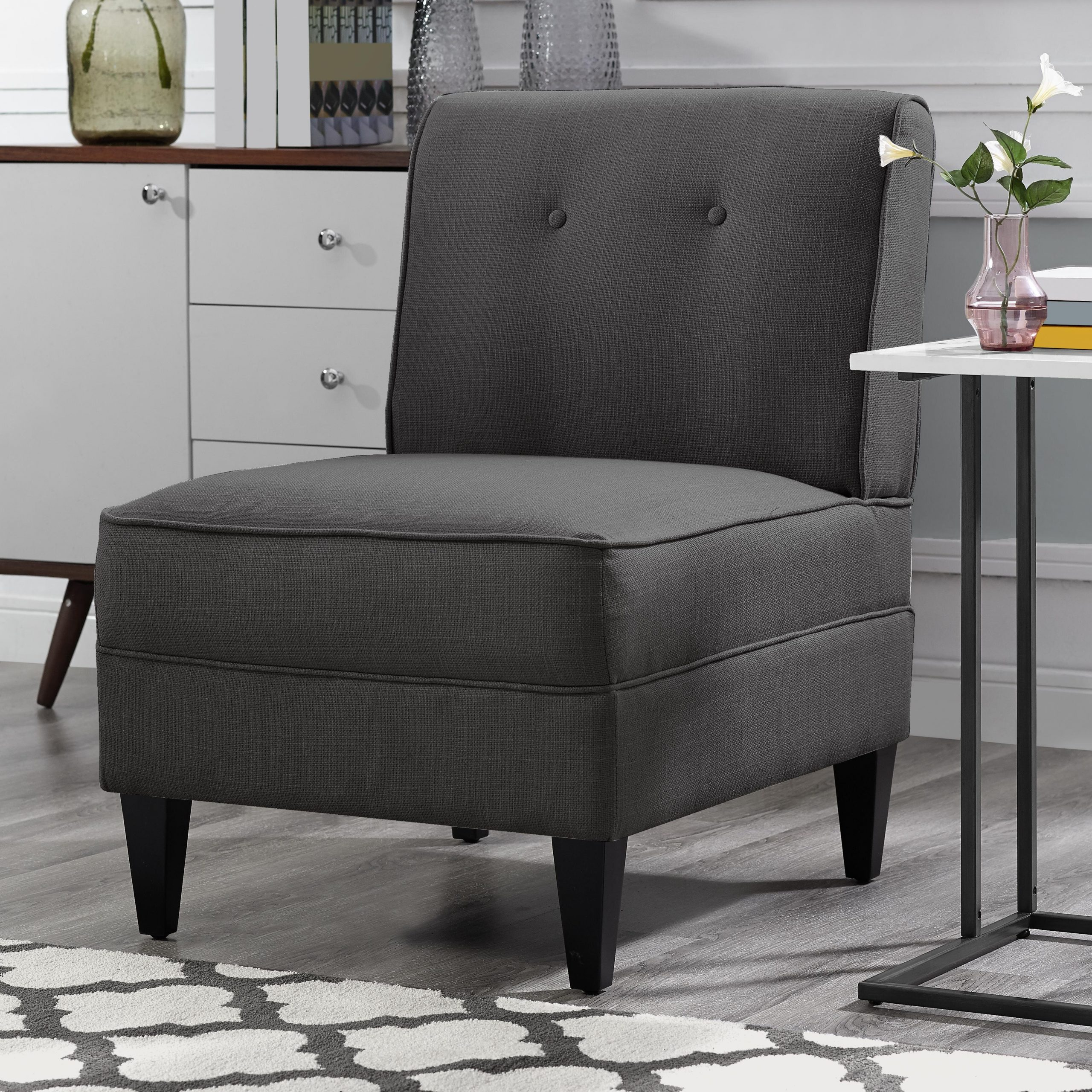 Modern & Contemporary Slipper Accent Chairs You'Ll Love In Throughout Harland Modern Armless Slipper Chairs (View 5 of 15)