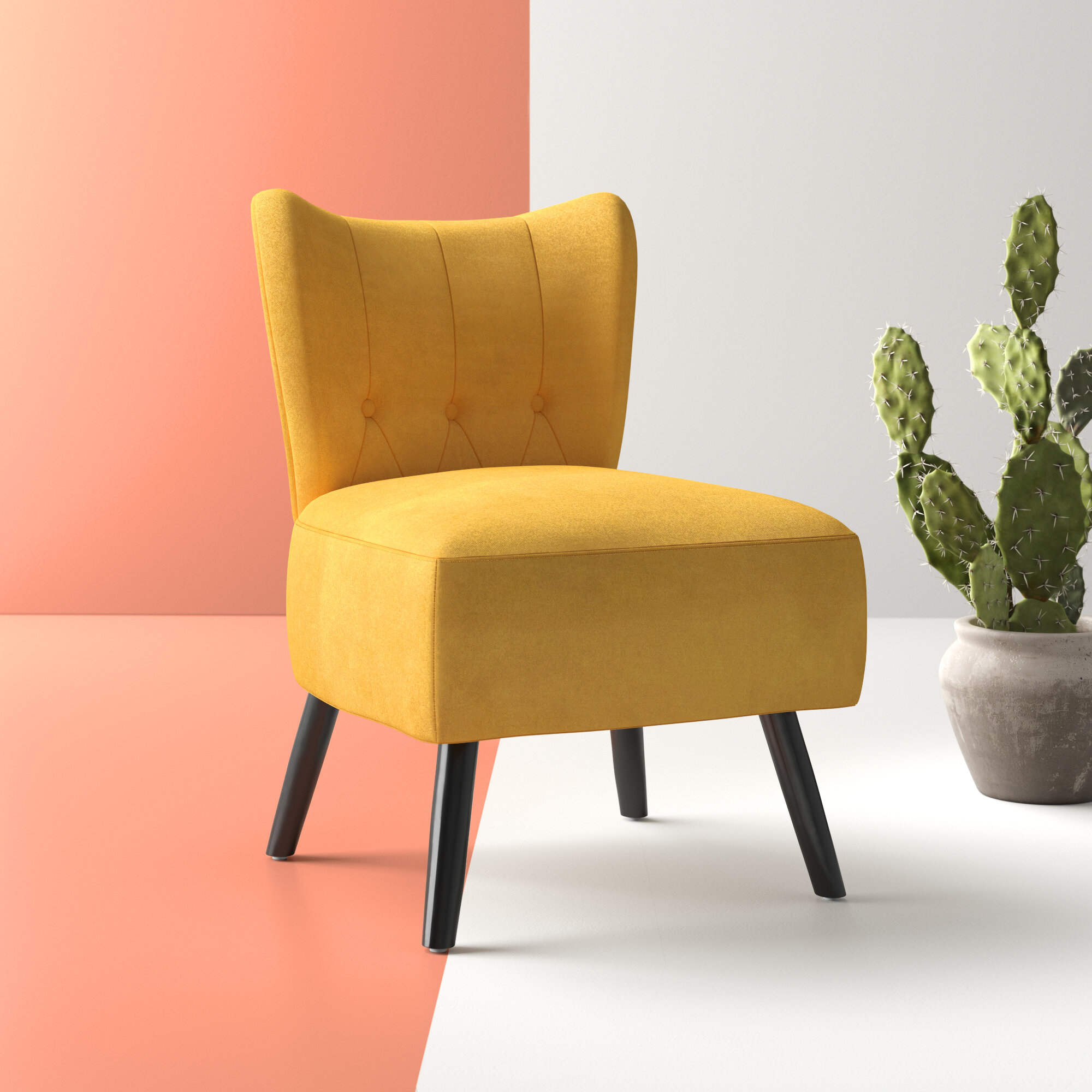 Modern & Contemporary Slipper Accent Chairs You'Ll Love In With Regard To Harland Modern Armless Slipper Chairs (View 4 of 15)