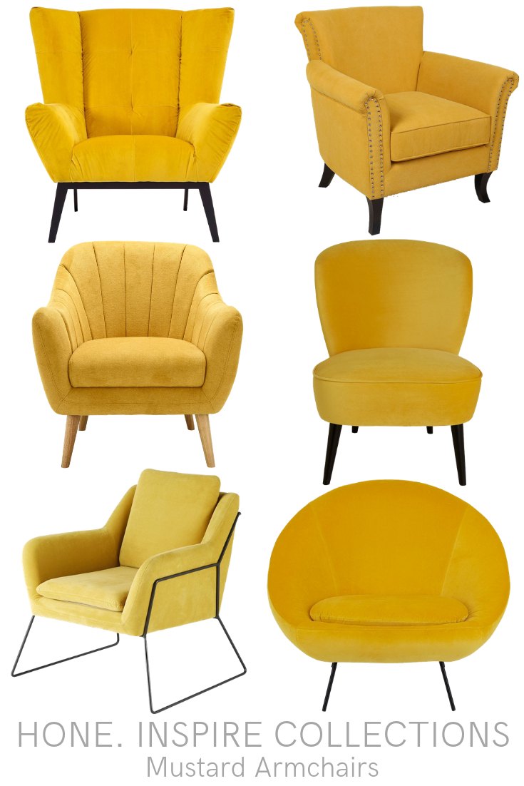 Mustard Armchairs – Hone (View 12 of 15)
