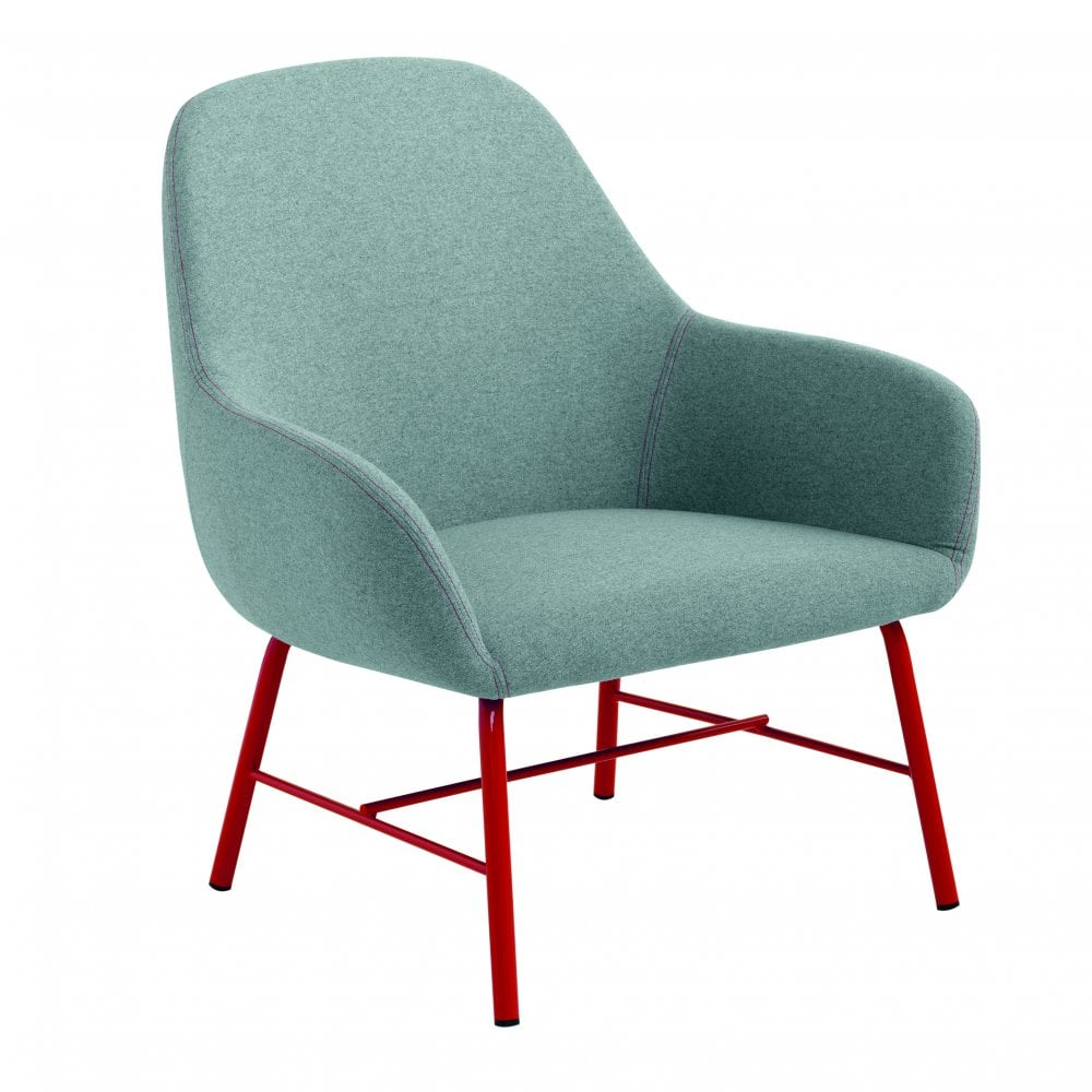 Myra Lounge Chair – Metal Legs Pertaining To Lounge Chairs With Metal Leg (View 3 of 15)