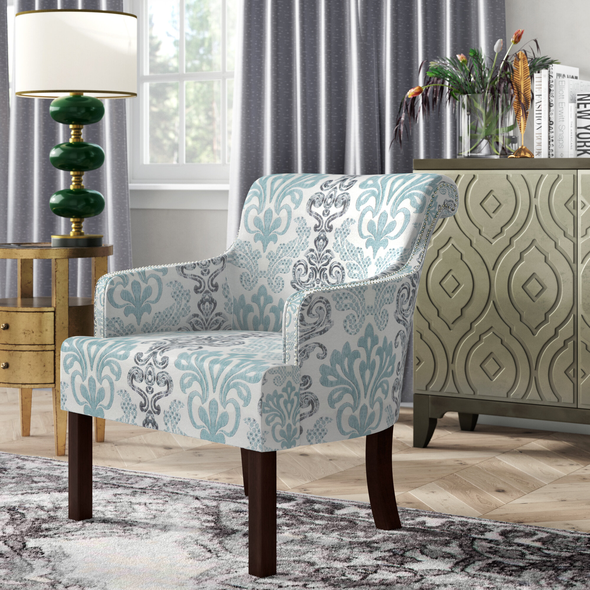 Nailhead Accent Chairs You'Ll Love In 2021 | Wayfair Throughout Bethine Polyester Armchairs (Set Of 2) (View 10 of 15)