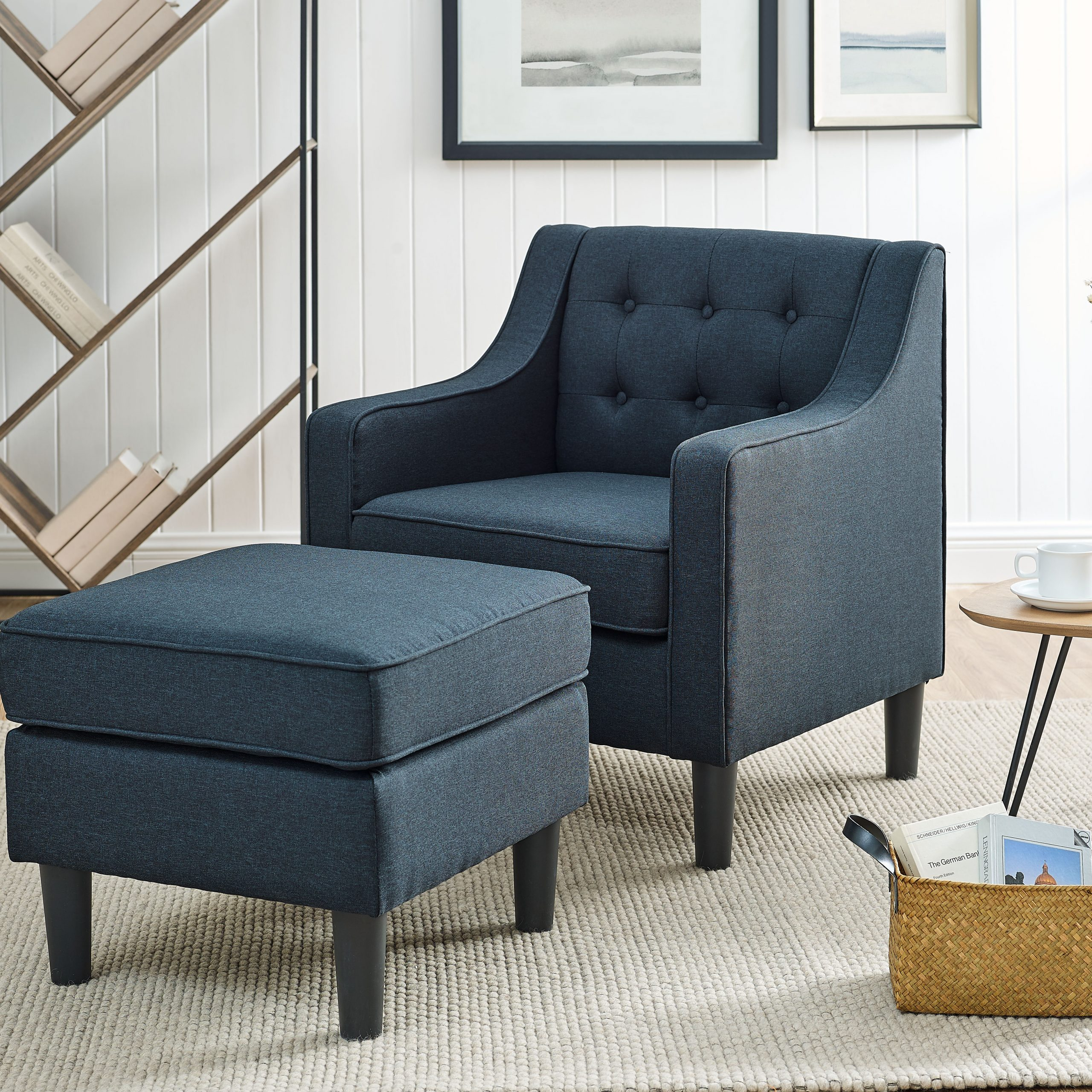Navy Ottoman Included Accent Chairs You'Ll Love In 2021 Inside Hallsville Performance Velvet Armchairs And Ottoman (View 4 of 15)