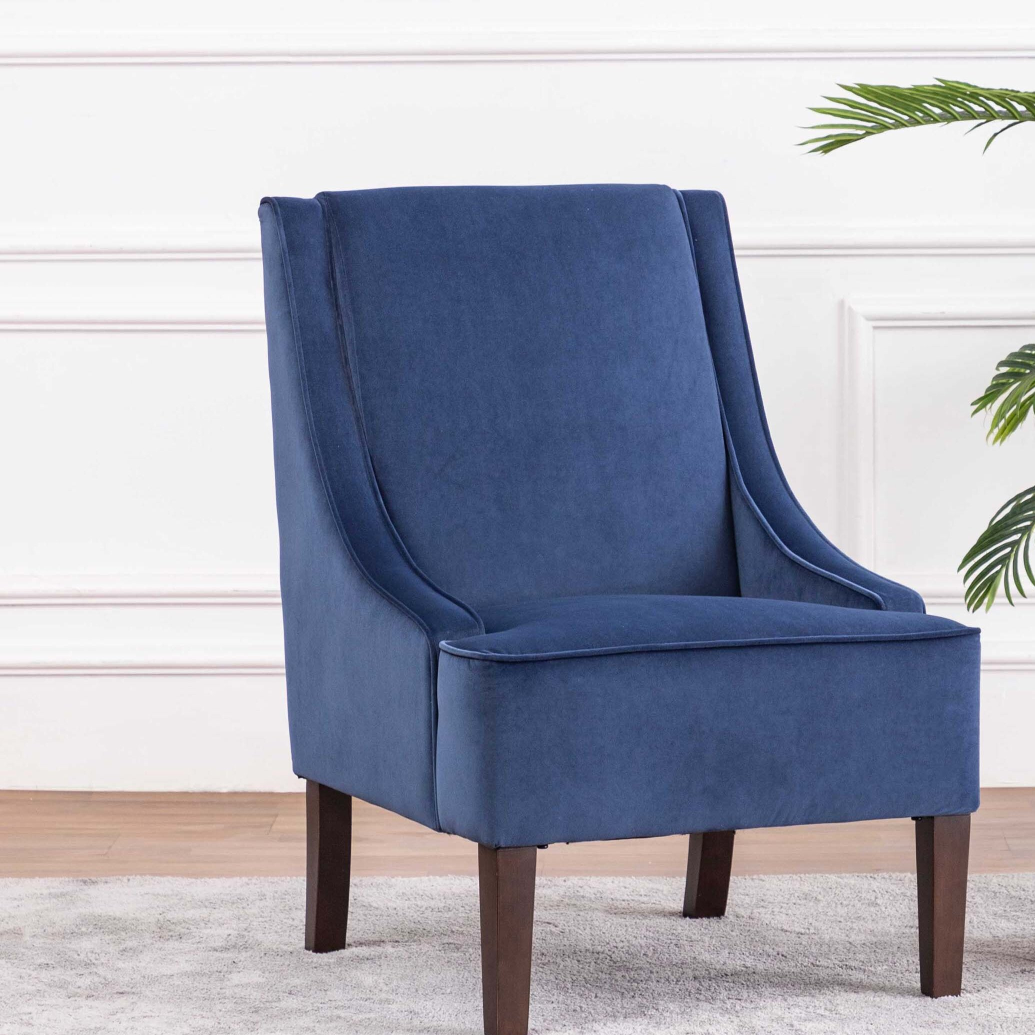 Navy & Purple Accent Chairs You'Ll Love In 2020 Regarding Altamahaw Swoop Side Chairs (View 13 of 15)