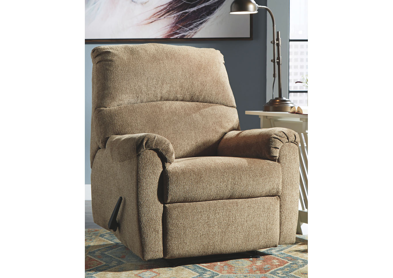 Nerviano Mocha Recliner J&D Furniture | Vineland, Nj With Regard To Vineland Polyester Swivel Armchairs (View 11 of 15)