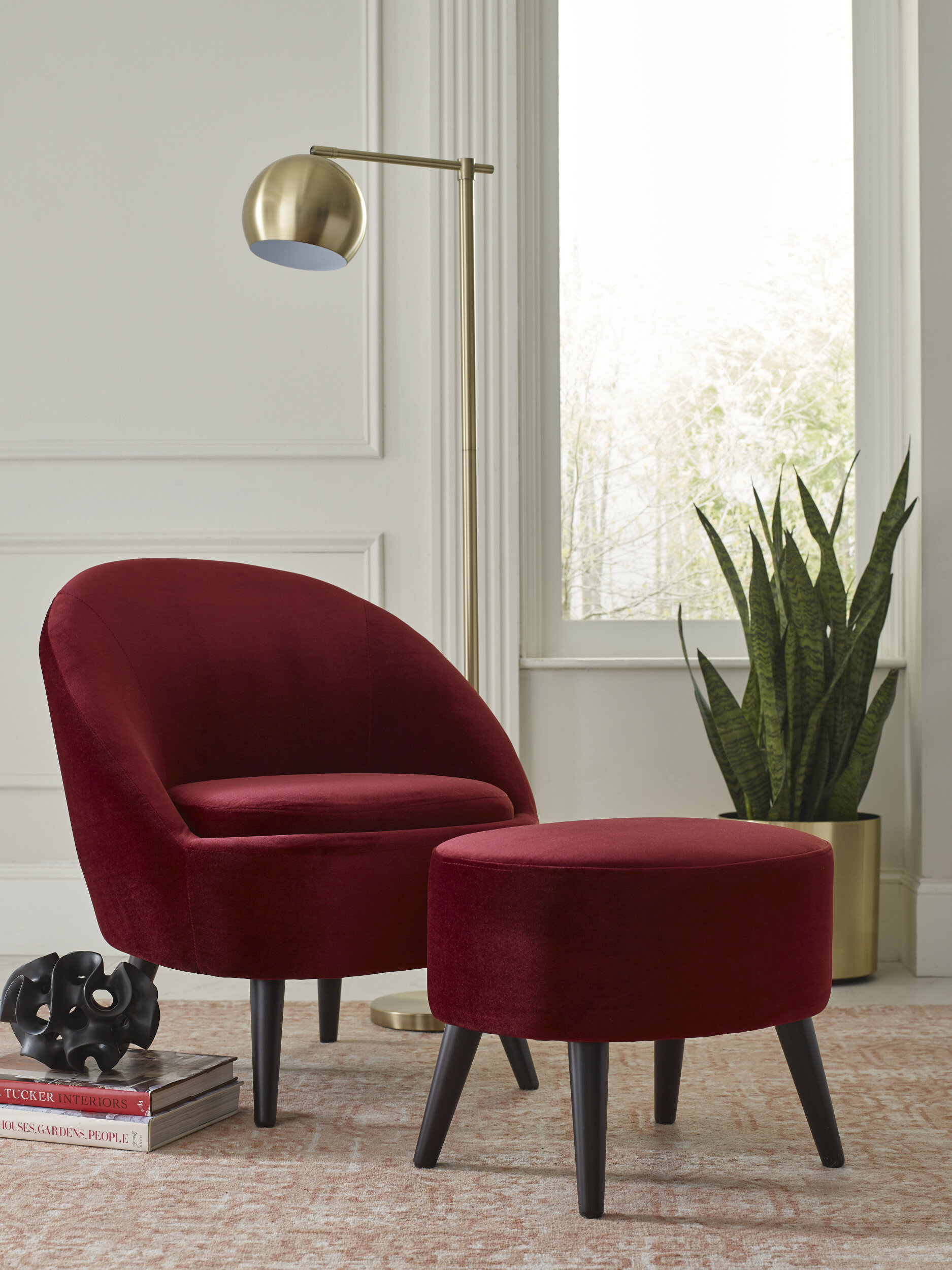 Nico Armchair And Ottoman Intended For Briseno Barrel Chairs (View 14 of 15)