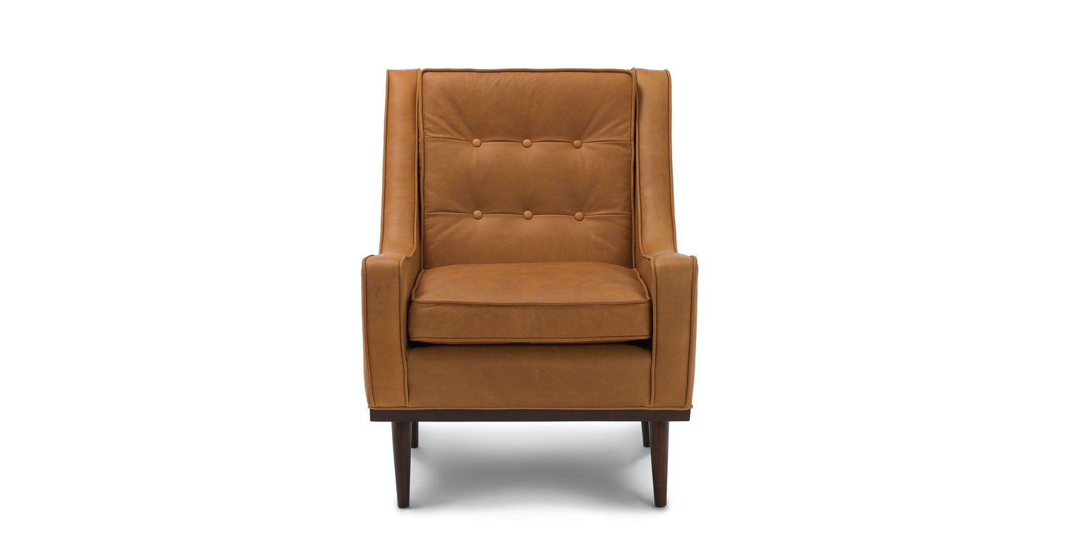 Nina Charme Tan Armchair In 2020 | Mid Century Modern Lounge Pertaining To Jill Faux Leather Armchairs (View 8 of 15)