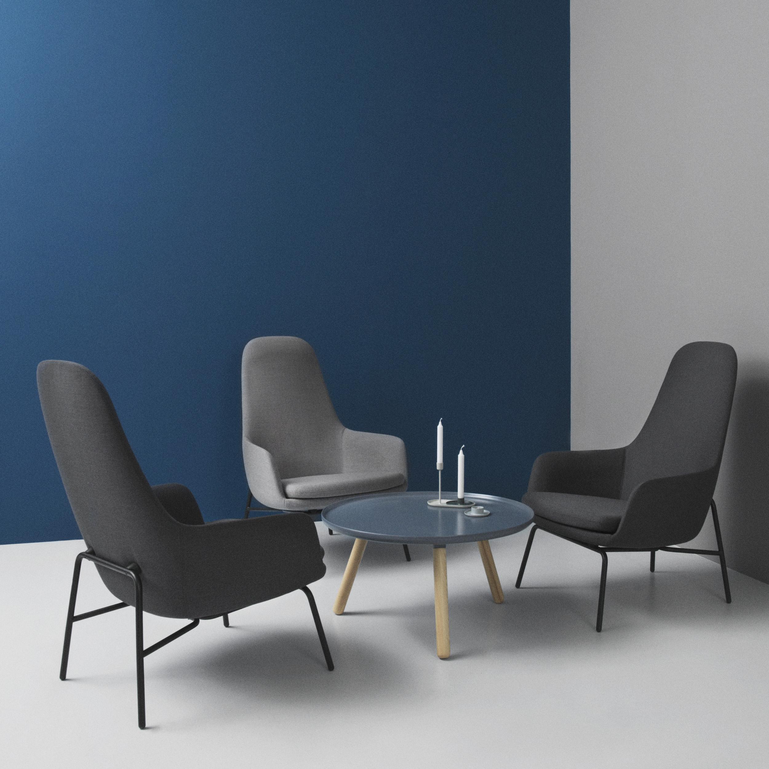 Normann Copenhagen – Era Lounge Chair, High Back, Metal Legs With Lounge Chairs With Metal Leg (View 2 of 15)