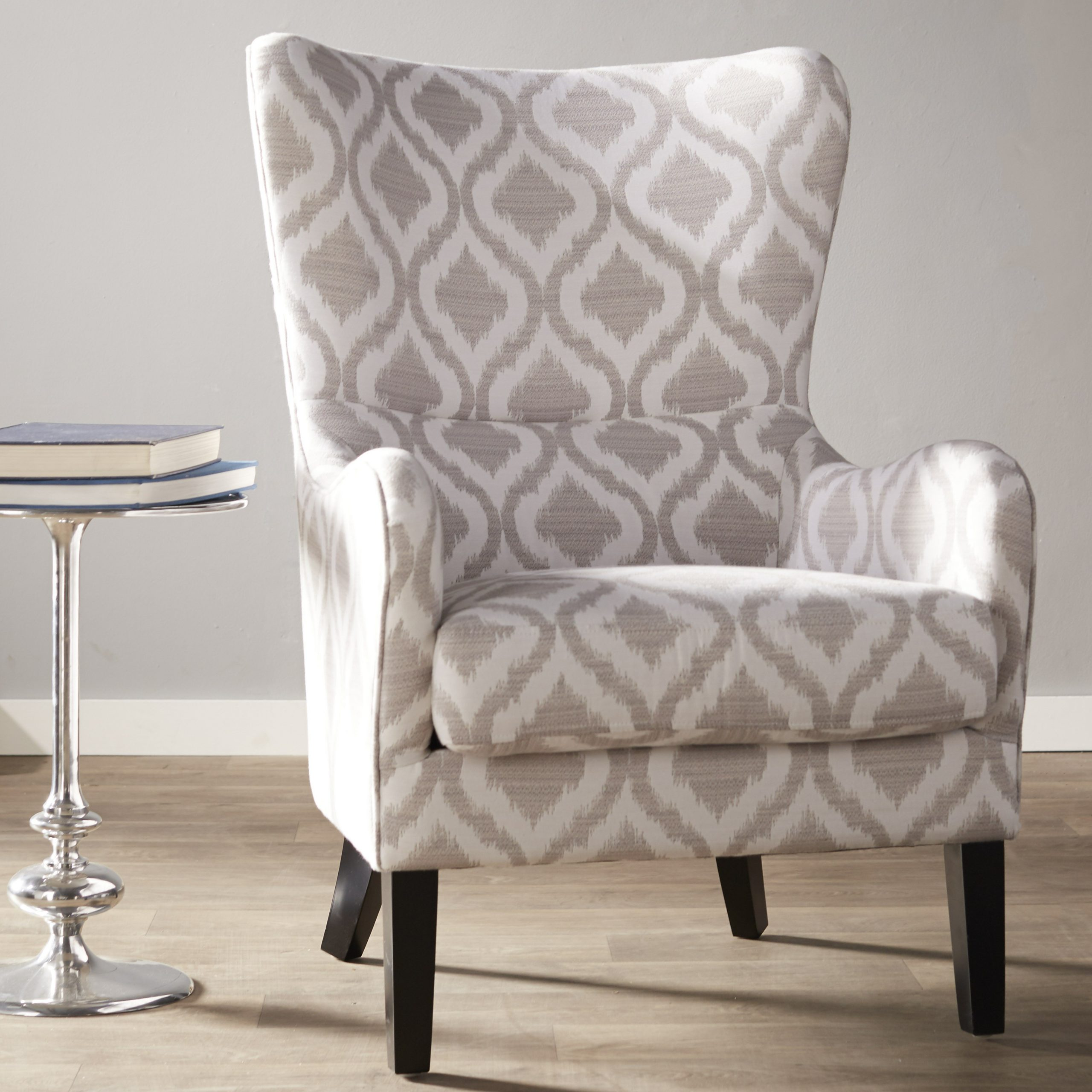 Oday Wingback Chair For Allis Tufted Polyester Blend Wingback Chairs (View 8 of 15)