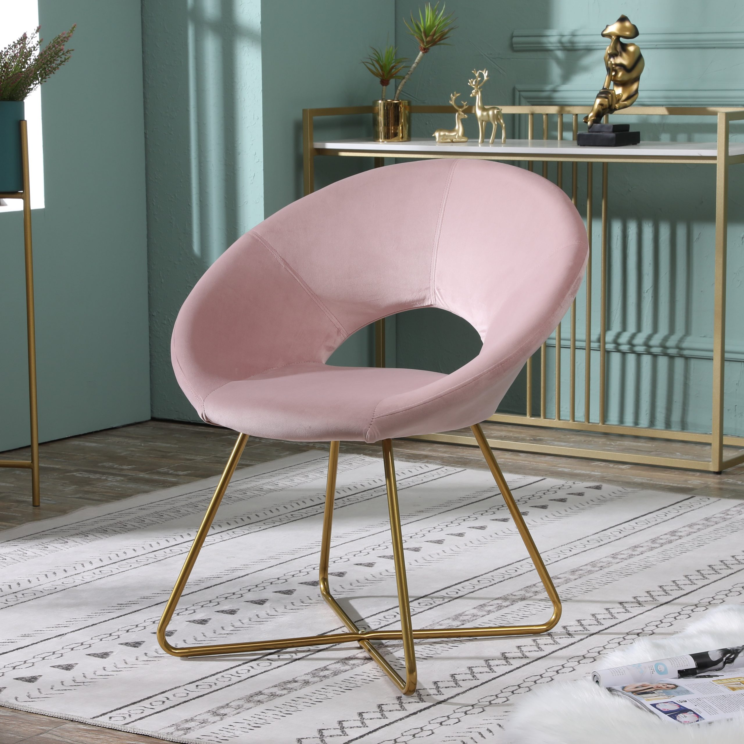 Office Floor Mat Accent Chairs You'Ll Love In 2021 | Wayfair In Grinnell Silky Velvet Papasan Chairs (View 3 of 15)