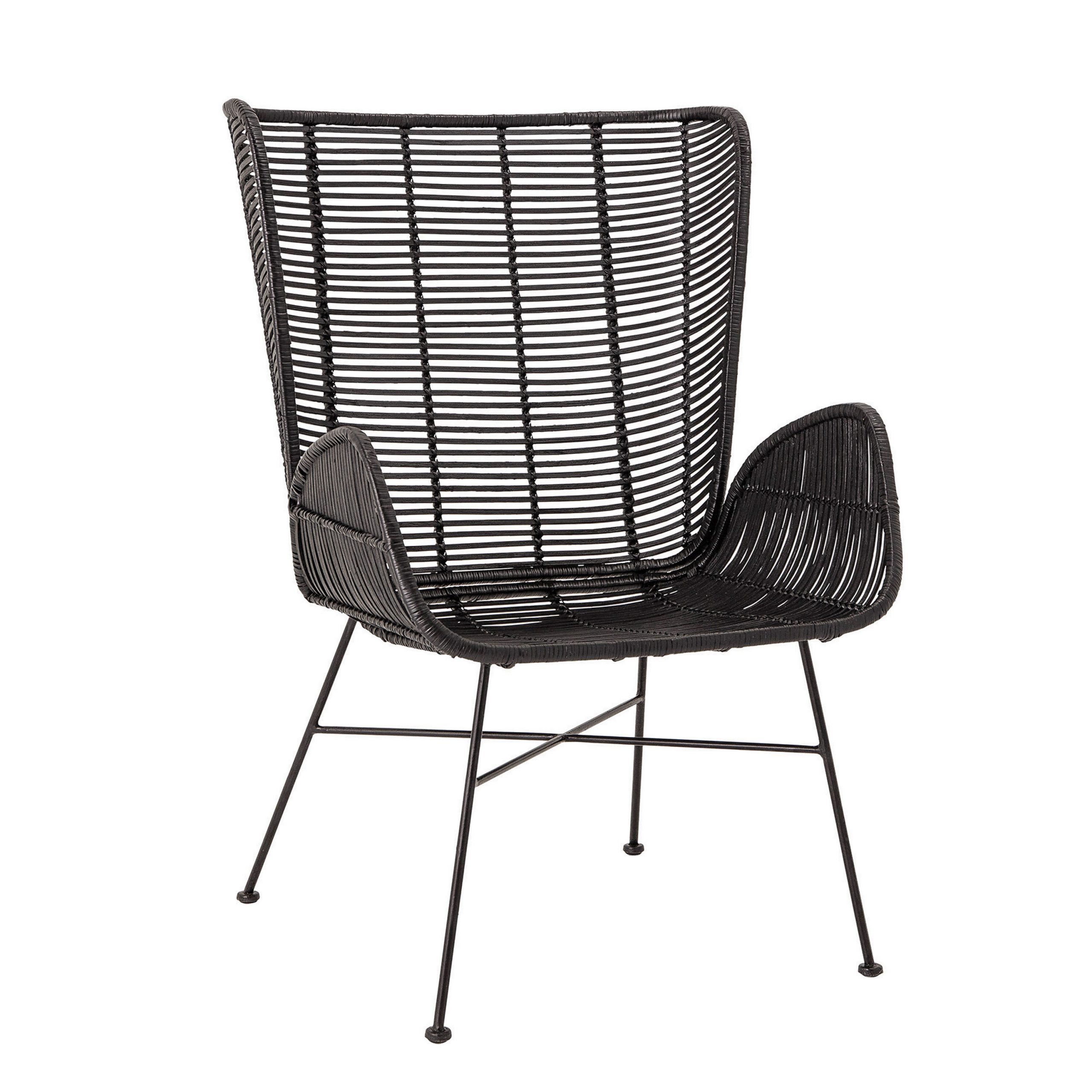 "Oglesby Woven Rattan 19"" Armchair For Oglesby Armchairs (View 3 of 15)"