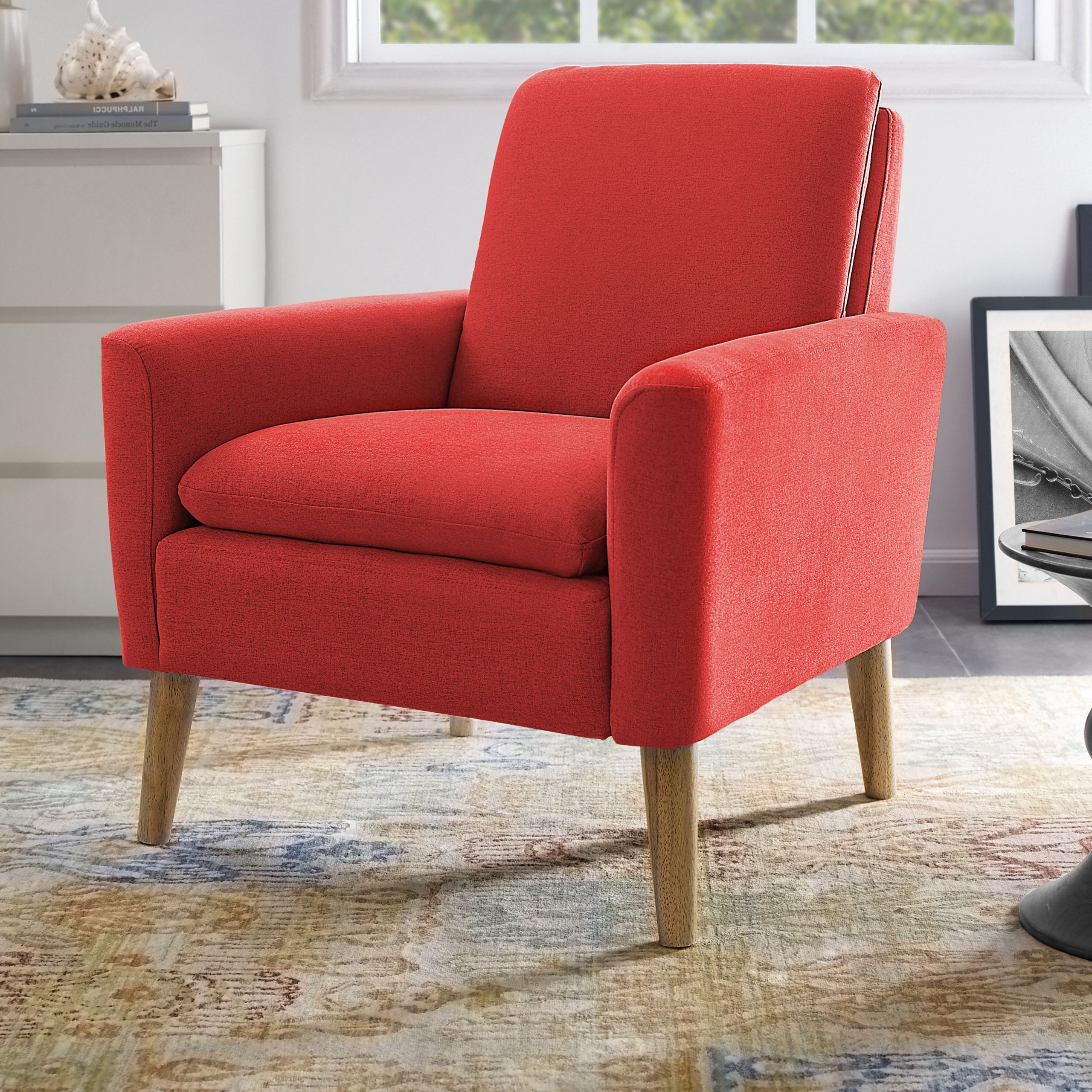 Orange Scandinavian Accent Chairs You'Ll Love In 2021 | Wayfair For Harmoni Armchairs (View 3 of 15)