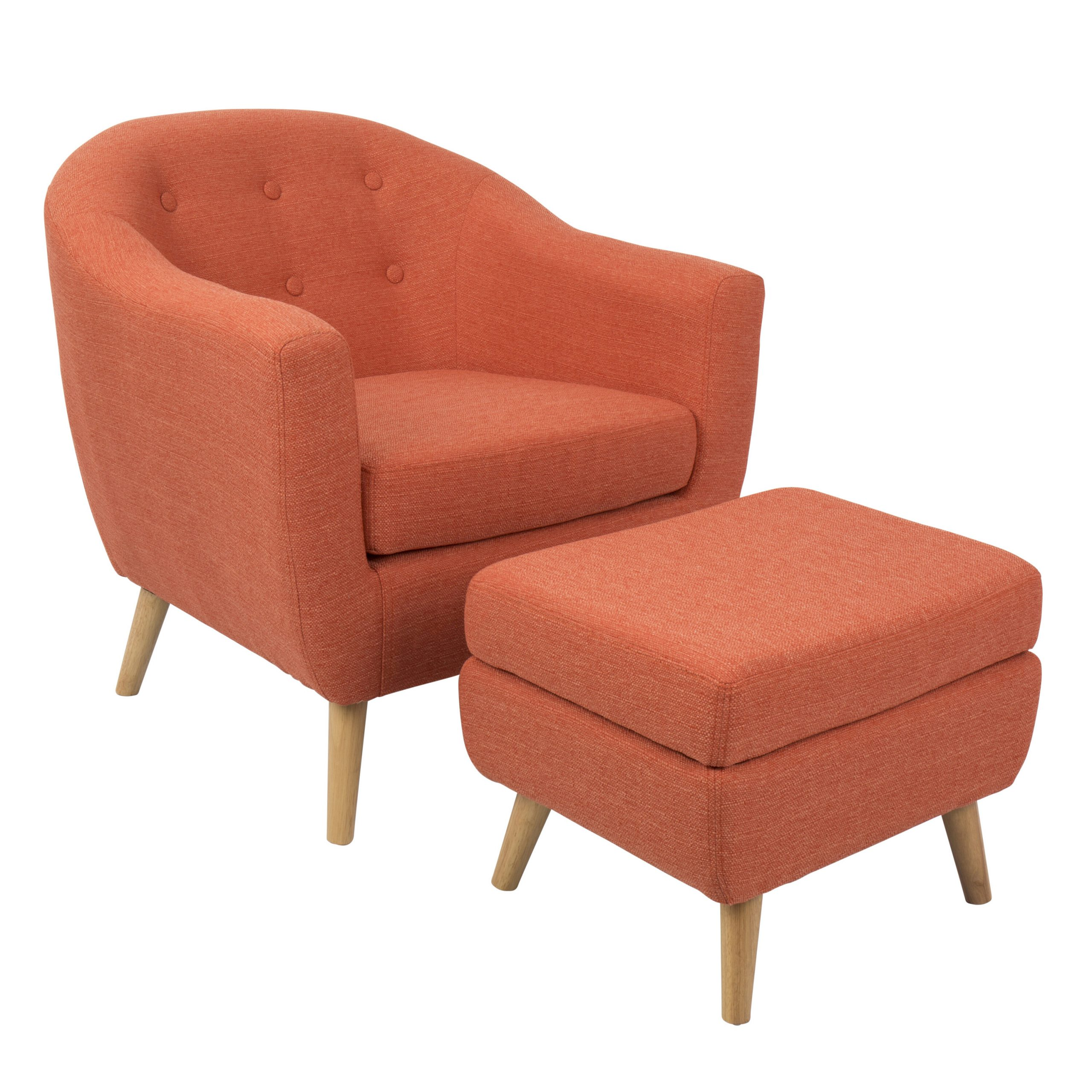 Orange & White Accent Chairs You'Ll Love In 2021   Wayfair Within Artemi Barrel Chair And Ottoman Sets (View 9 of 15)