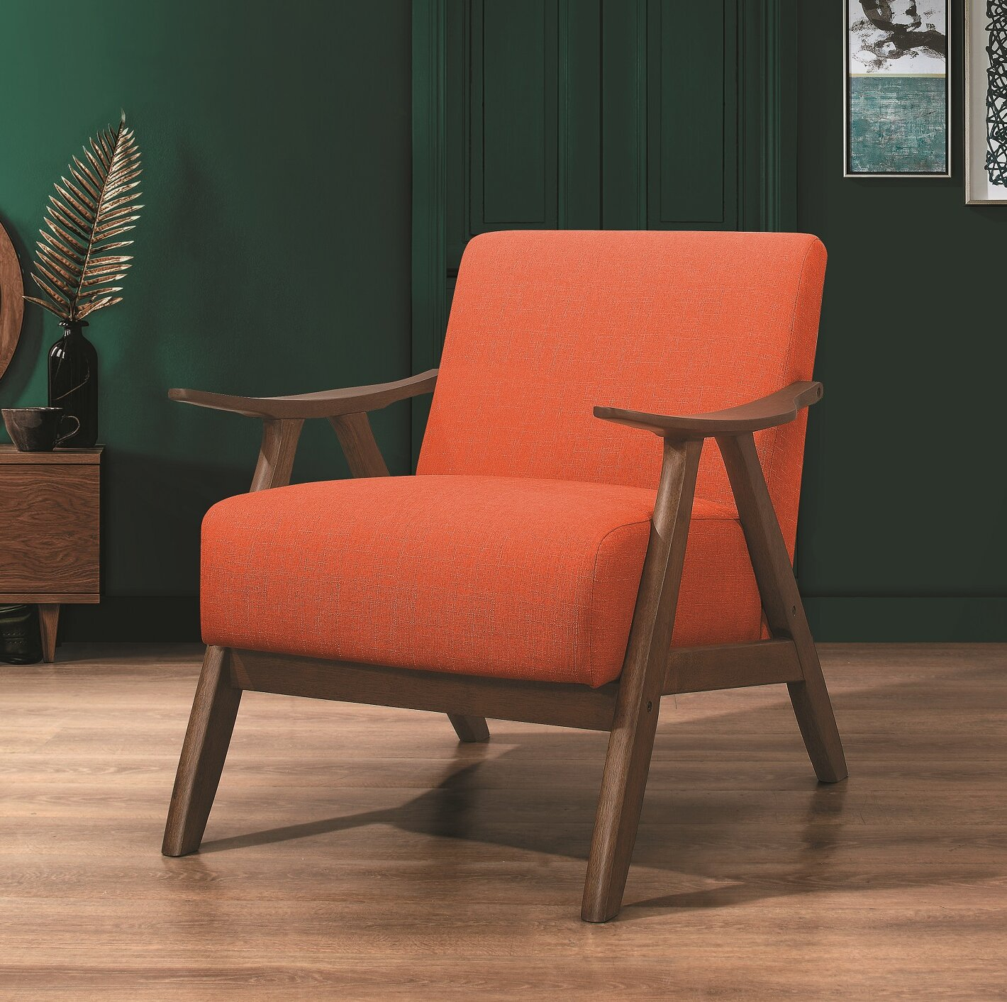 Orange & Yellow Accent Chairs You'Ll Love In 2021   Wayfair Intended For Hofstetter Armchairs (View 5 of 15)
