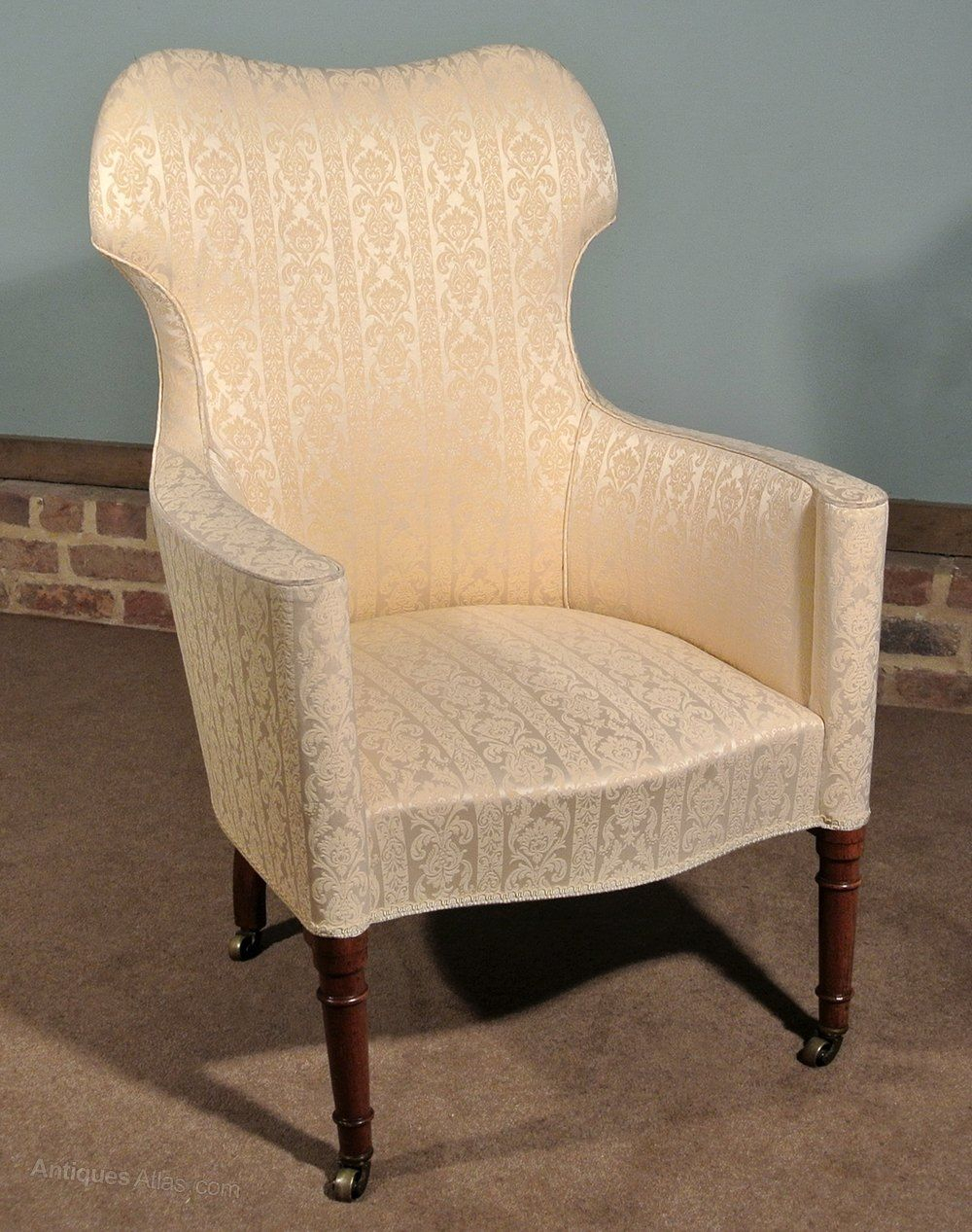 Original English Regency Barrel Back Chair C (View 10 of 15)