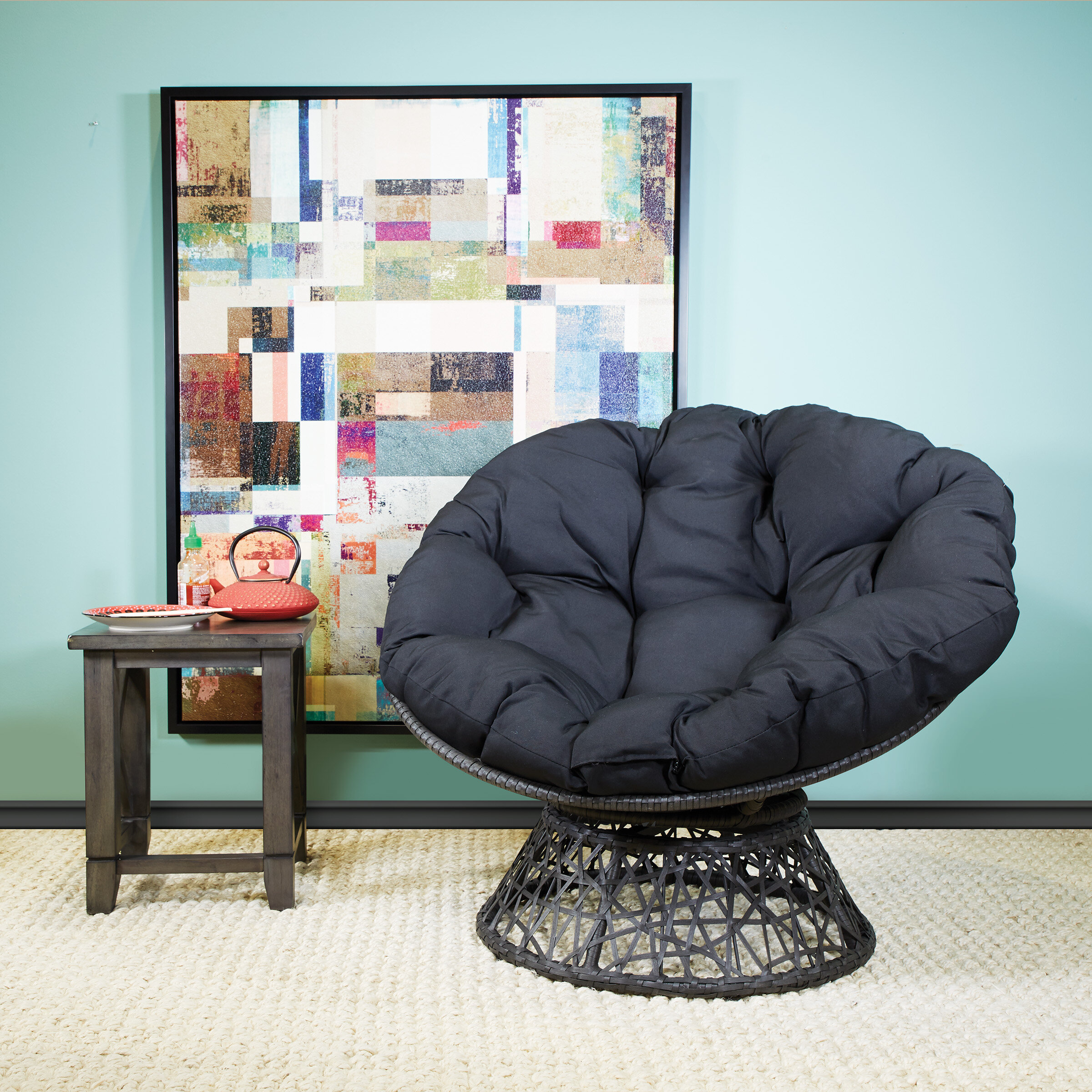 Osp Designs Swivel Papasan Chair & Reviews | Wayfair Within Decker Papasan Chairs (View 14 of 15)