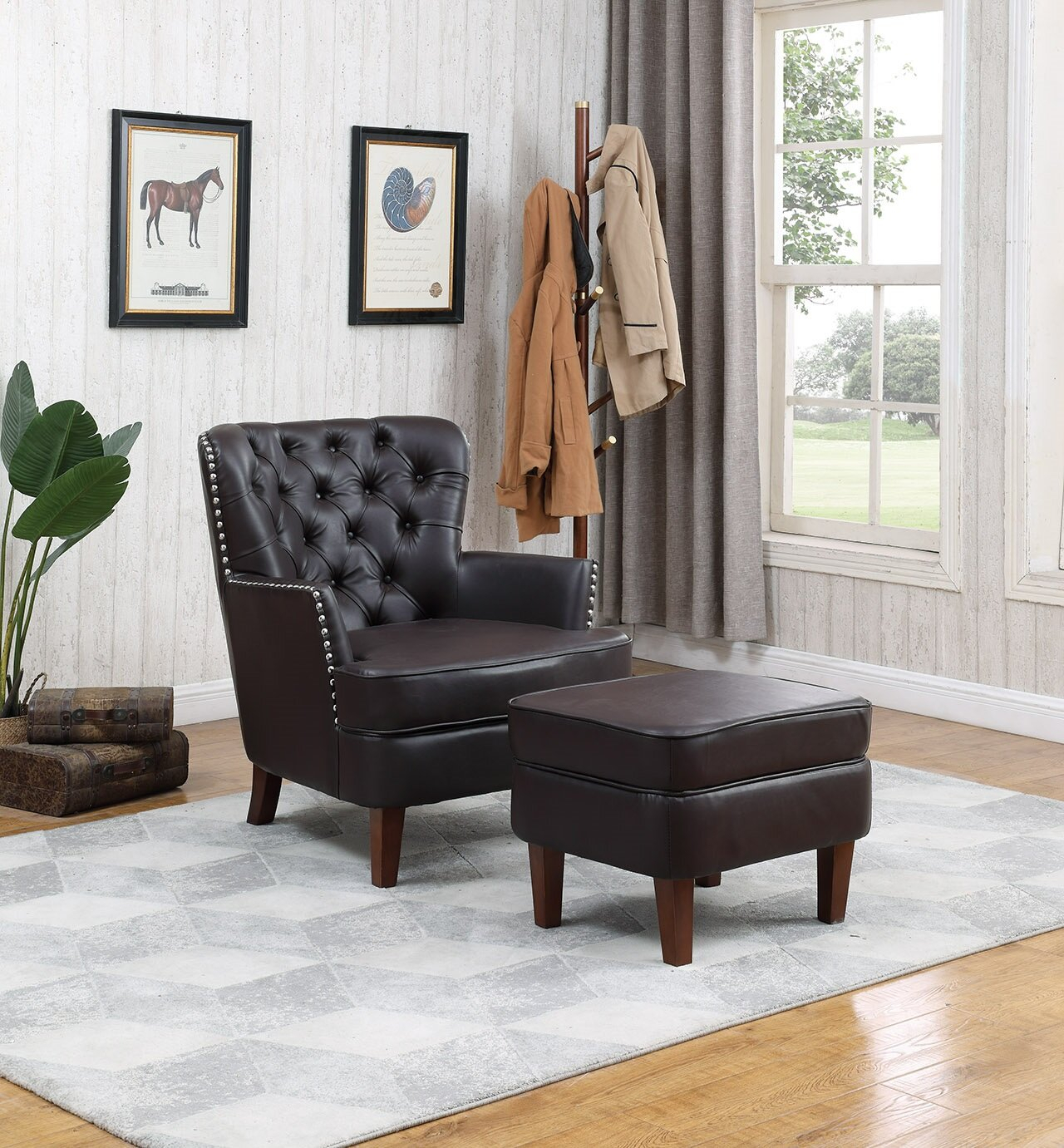 Ottoman Included Small Accent Chairs You'Ll Love In 2021 For Annegret Faux Leather Barrel Chair And Ottoman Sets (View 13 of 15)