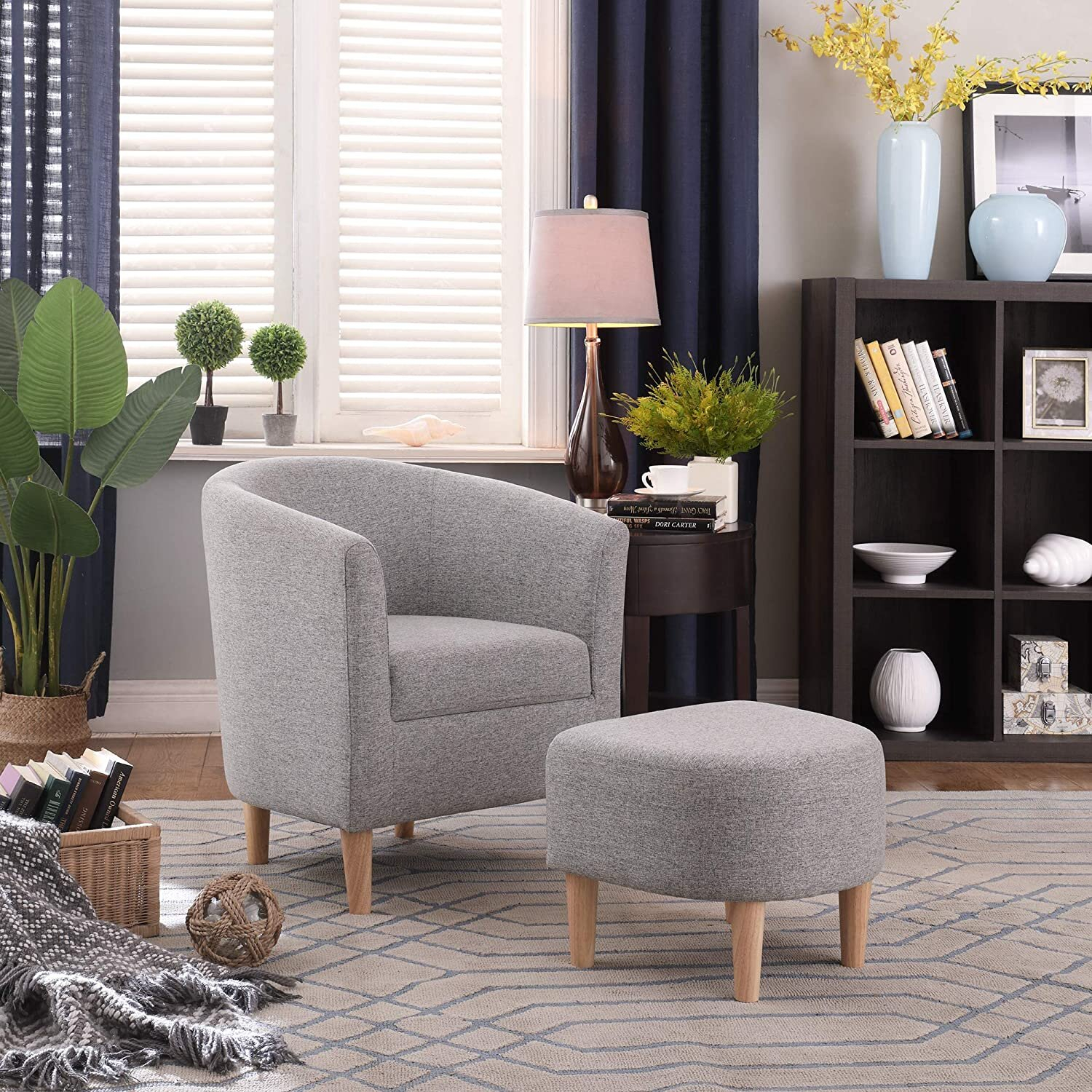Ottoman Included Small Accent Chairs You'Ll Love In 2021 Intended For Alexander Cotton Blend Armchairs And Ottoman (View 11 of 15)