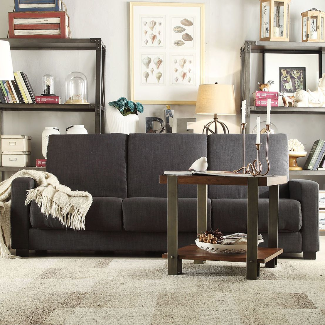Overstock: Online Shopping – Bedding, Furniture Throughout Onderdonk Faux Leather Convertible Chairs (View 13 of 15)