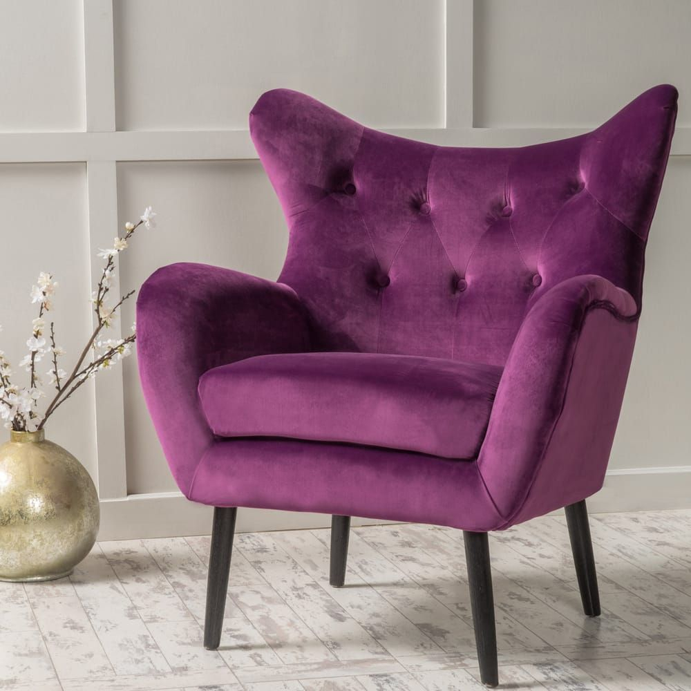 Overstock: Online Shopping – Bedding, Furniture With Regard To Didonato Tufted Velvet Armchairs (View 6 of 15)