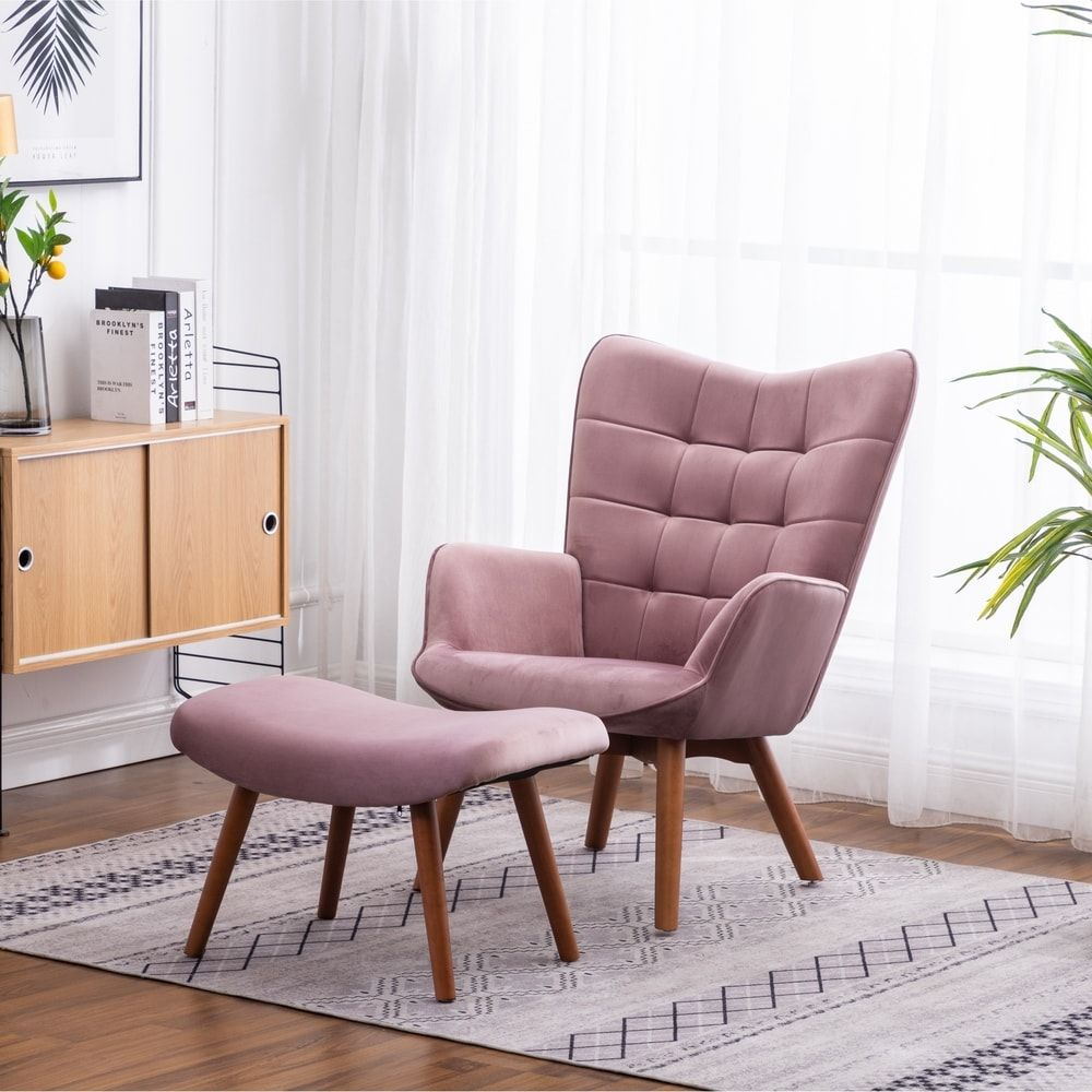 Overstock: Online Shopping – Bedding, Furniture Within Starks Tufted Fabric Chesterfield Chair And Ottoman Sets (View 9 of 15)