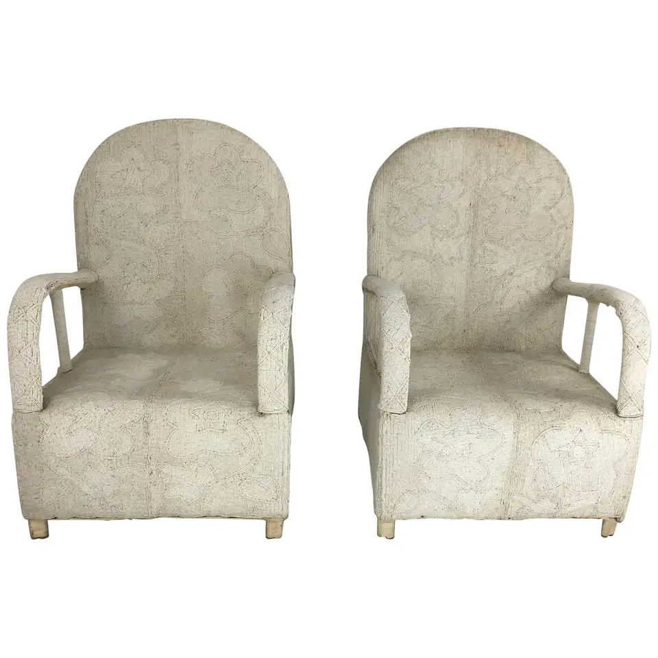 Pair Of African Yoruba Beaded Armchairs In 2020 | Armchair With Regard To Popel Armchairs (View 5 of 15)