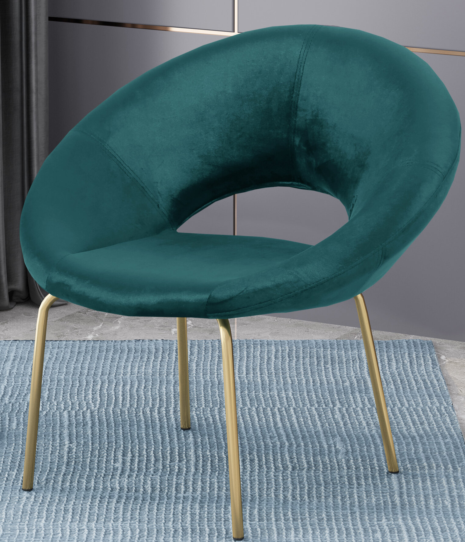Palmer Modern Glam Papasan Chair For Grinnell Silky Velvet Papasan Chairs (View 15 of 15)