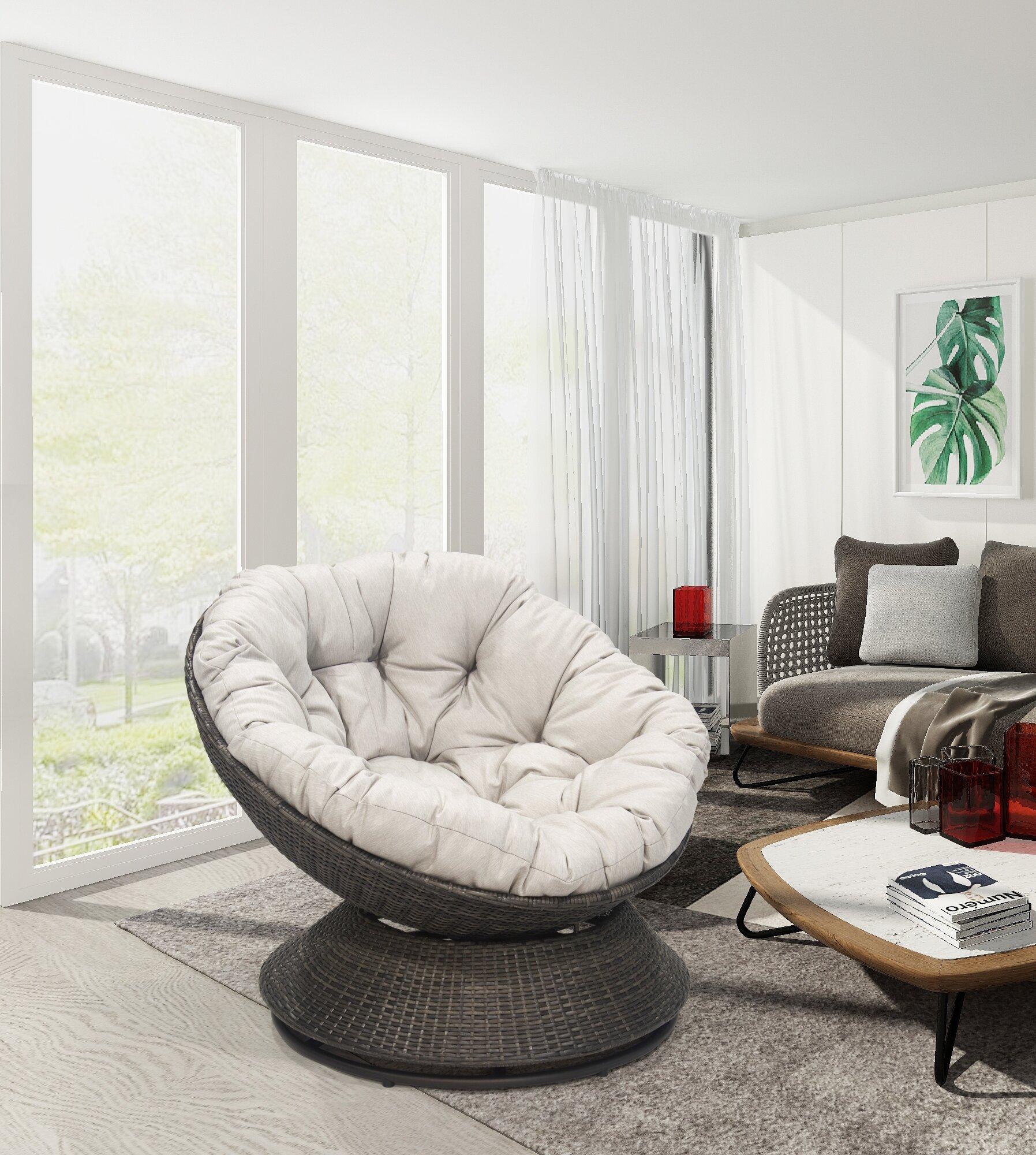 Papasan Chairs | Wayfair (View 3 of 15)