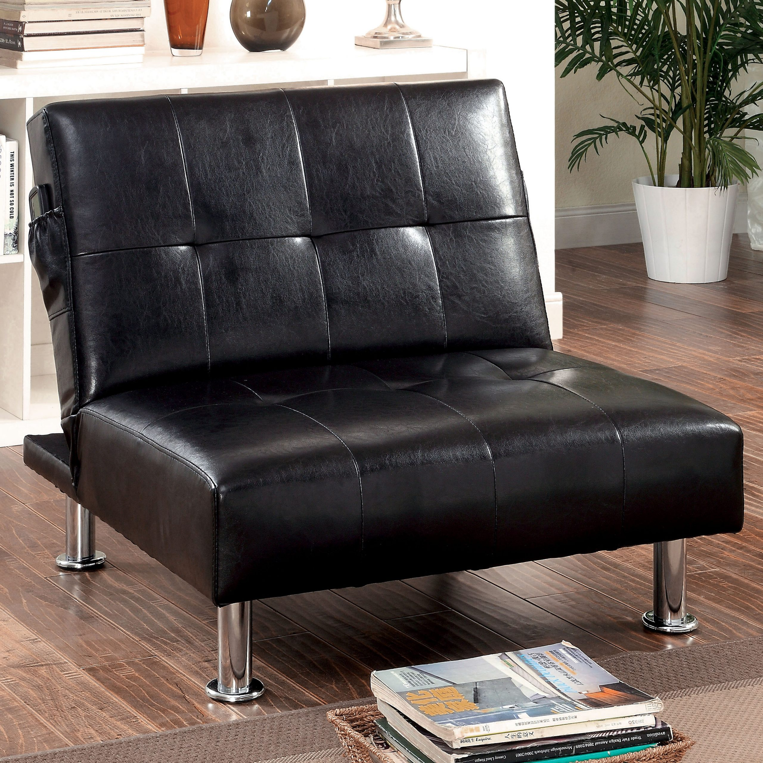 Featured Image of Perz Tufted Faux Leather Convertible Chairs