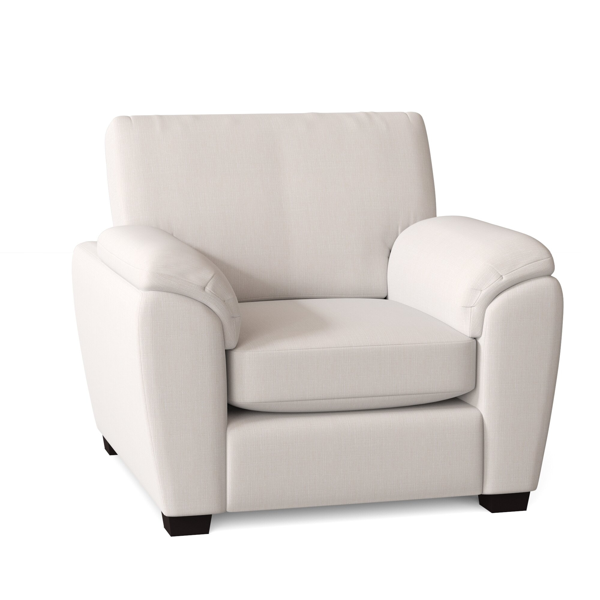 Pillow Top Arm Solid Accent Chairs You'Ll Love In 2021 | Wayfair With Regard To Brookhhurst Avina Armchairs (View 6 of 15)
