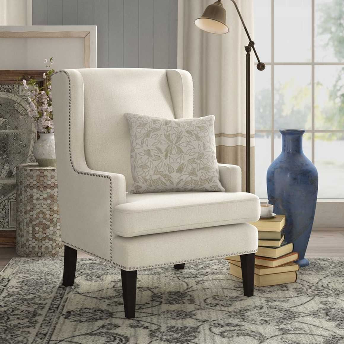 Pin Em Canto De Leitura Within Lenaghan Wingback Chairs (View 3 of 15)