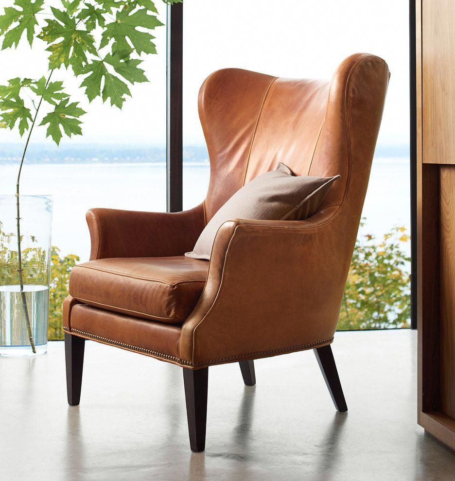Pin On Wingback Chair Pertaining To Marisa Faux Leather Wingback Chairs (View 7 of 15)