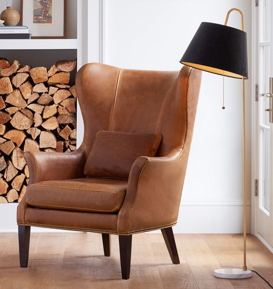 Pin On Wingback Chair Regarding Marisa Faux Leather Wingback Chairs (View 4 of 15)