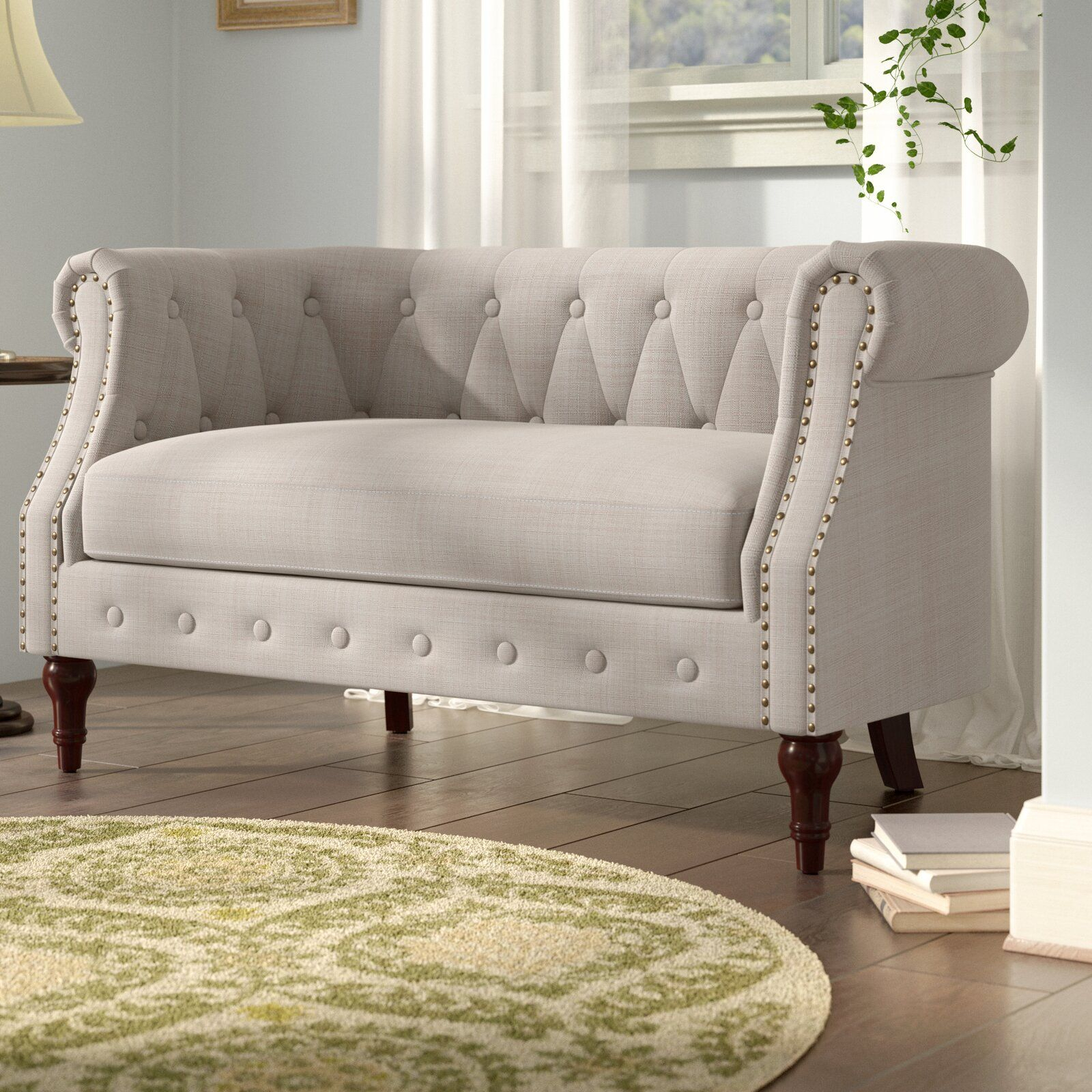 Pinalexa On Home Decor Furniture In 2020 | Love Seat With Regard To Kjellfrid Chesterfield Chairs (View 5 of 15)