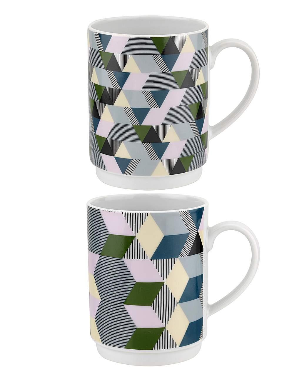 Portmeirion Geometrics Stacking Mugs Throughout Portmeirion Armchairs (View 13 of 15)
