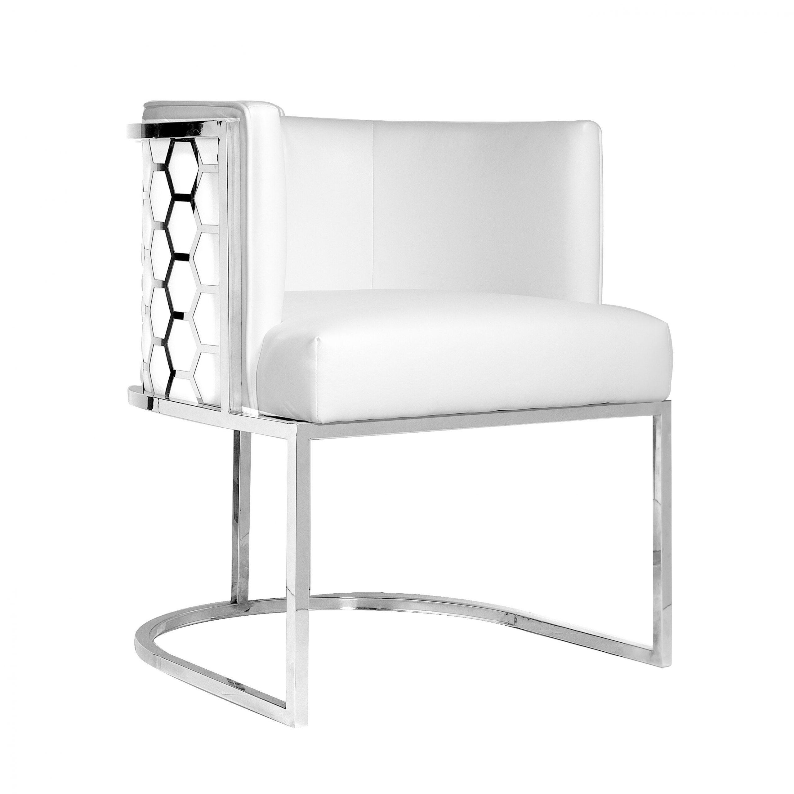 "Quevedo 23"" W Faux Leather Barrel Chair Regarding Navin Barrel Chairs (View 14 of 15)"
