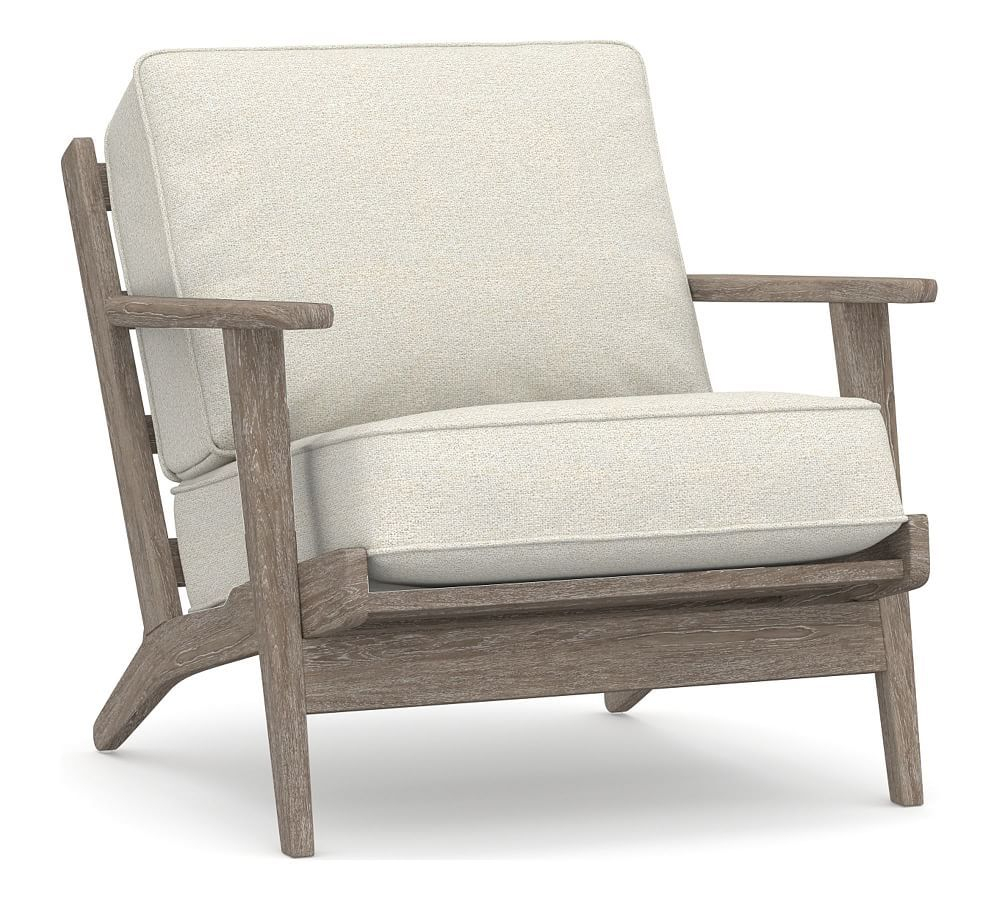 Raylan Upholstered Armchair, Polyester Wrapped Cushions Pertaining To Leia Polyester Armchairs (View 4 of 15)
