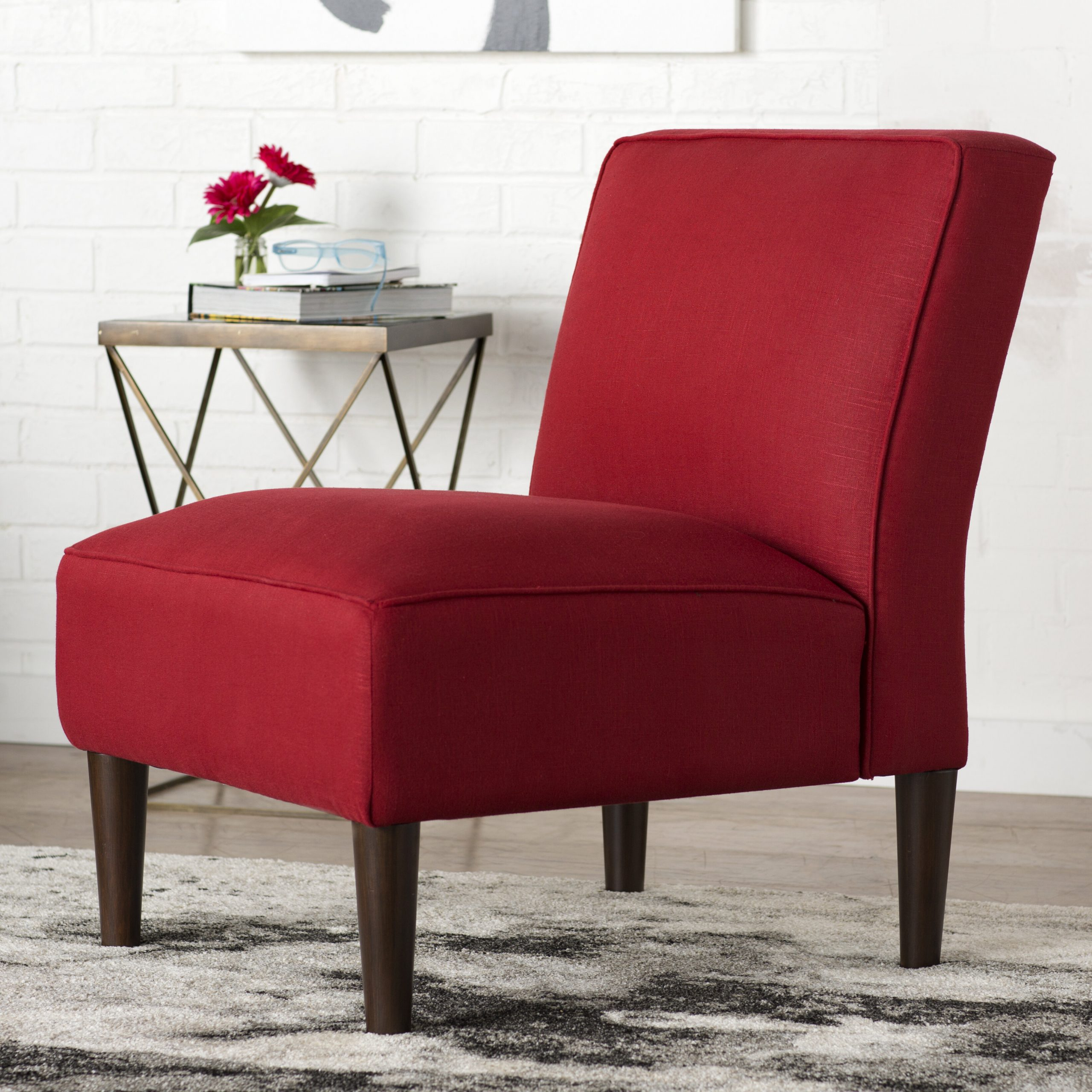 Red Slipper Accent Chairs You'Ll Love In 2021 | Wayfair Regarding Easterling Velvet Slipper Chairs (View 2 of 15)