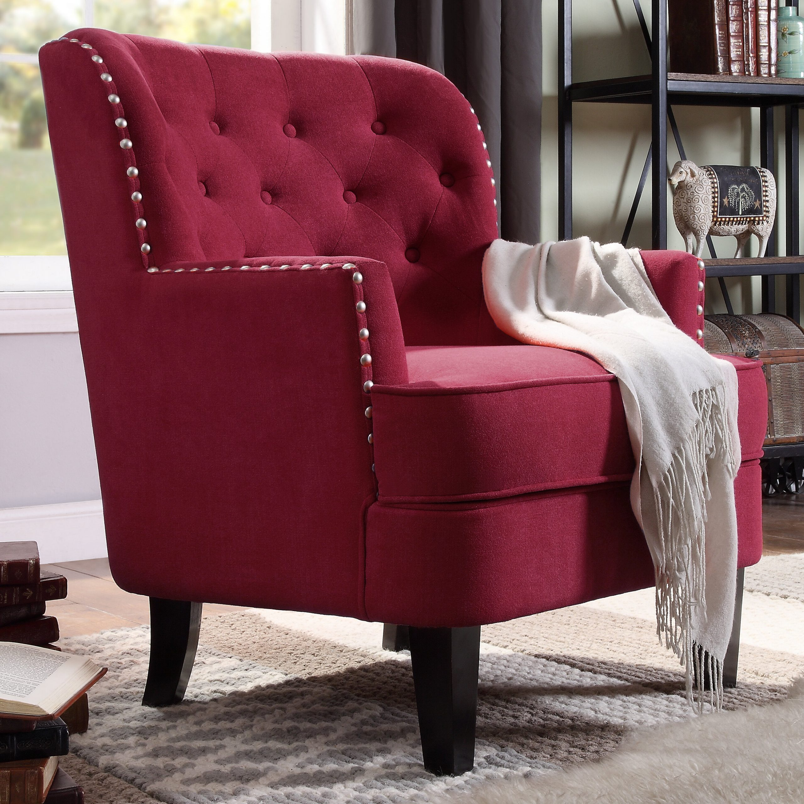 Red Traditional Accent Chairs You'Ll Love In 2021 | Wayfair Regarding Lenaghan Wingback Chairs (View 4 of 15)