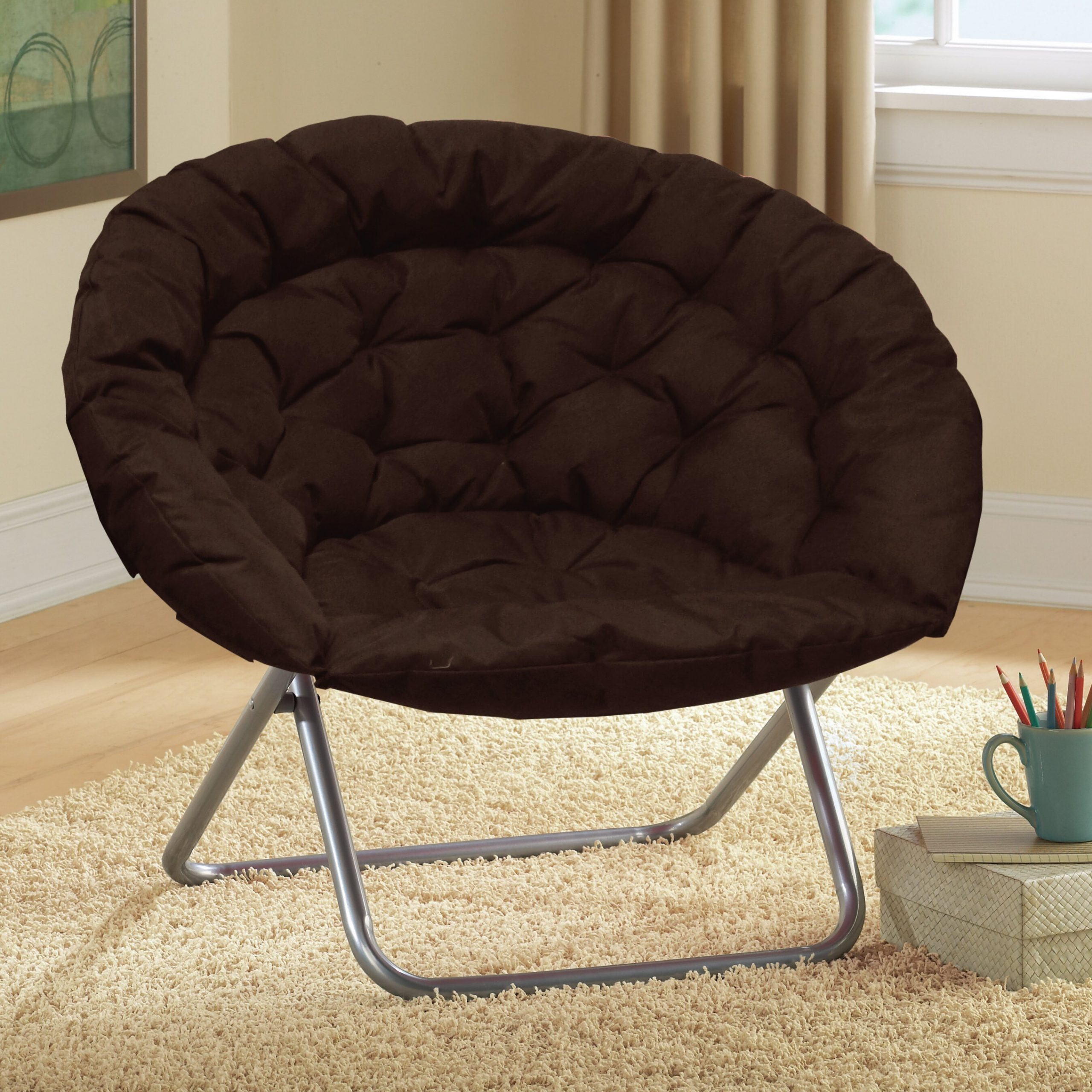 "Renay 30"" Papasan Chair Intended For Grinnell Silky Velvet Papasan Chairs (View 11 of 15)"