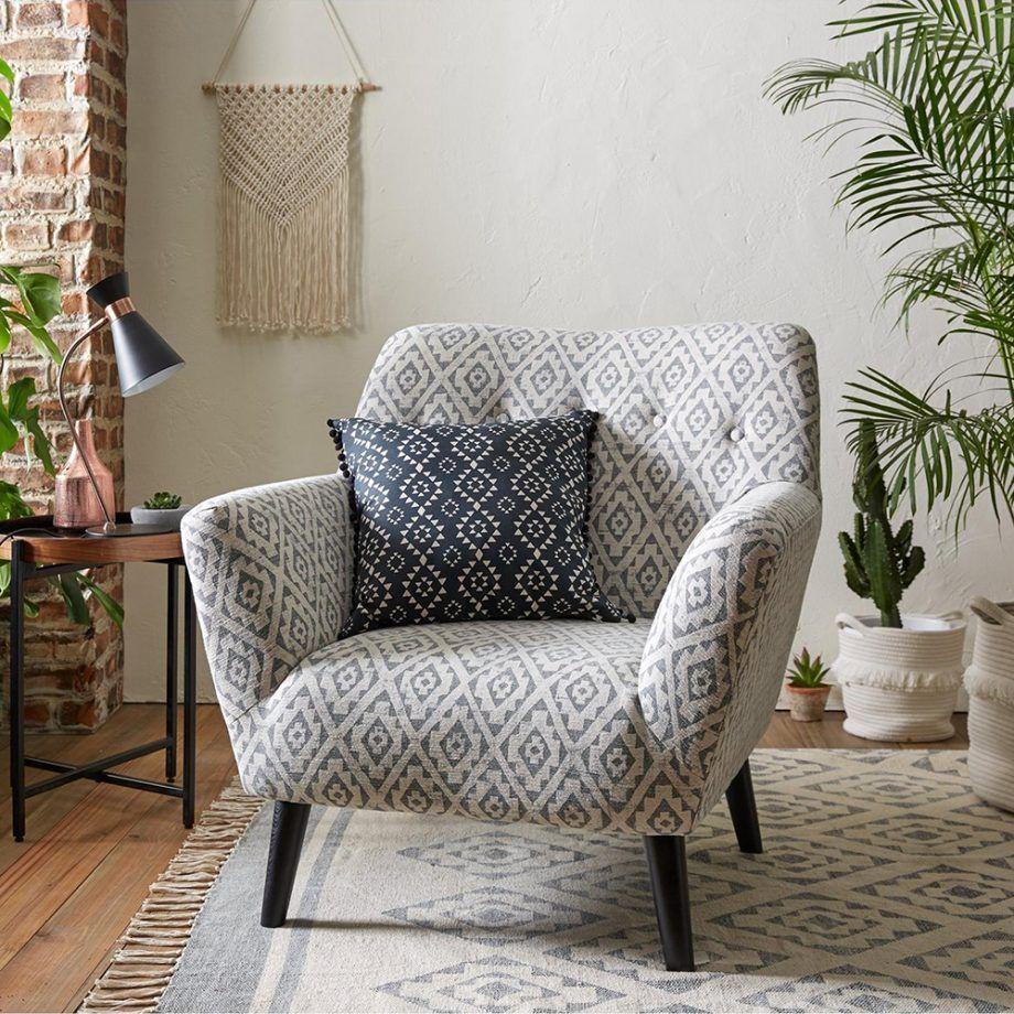 Retro Boho Living Room Very Armchair | Armchairs Living Room Inside Live It Cozy Armchairs (View 10 of 15)