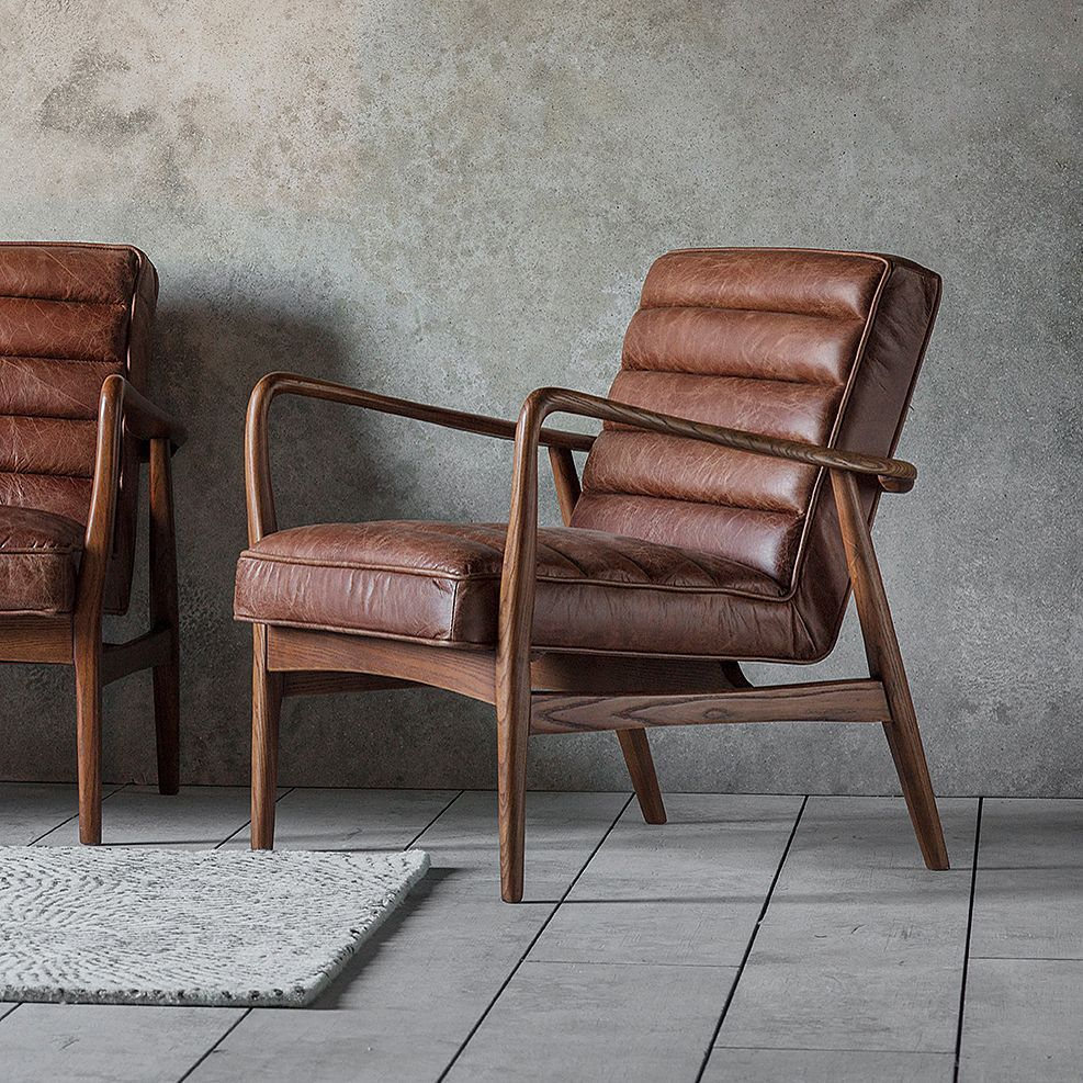Retro Brown Leather Armchair Leather Furniture In 2020 Within Caldwell Armchairs (View 11 of 15)