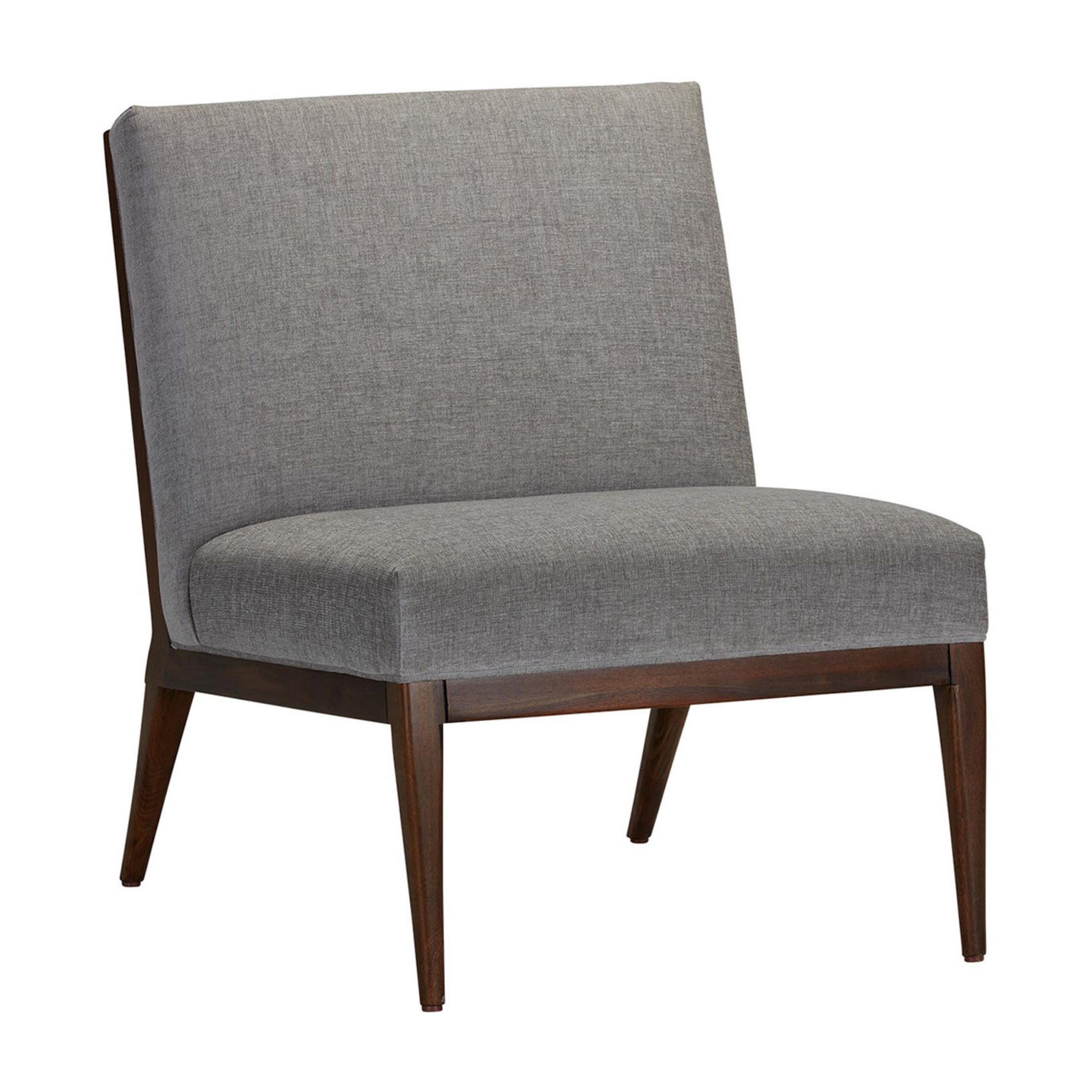 River Slipper Chair—Upholstered And Danish Inspired | Ethan Throughout Armless Upholstered Slipper Chairs (View 10 of 15)