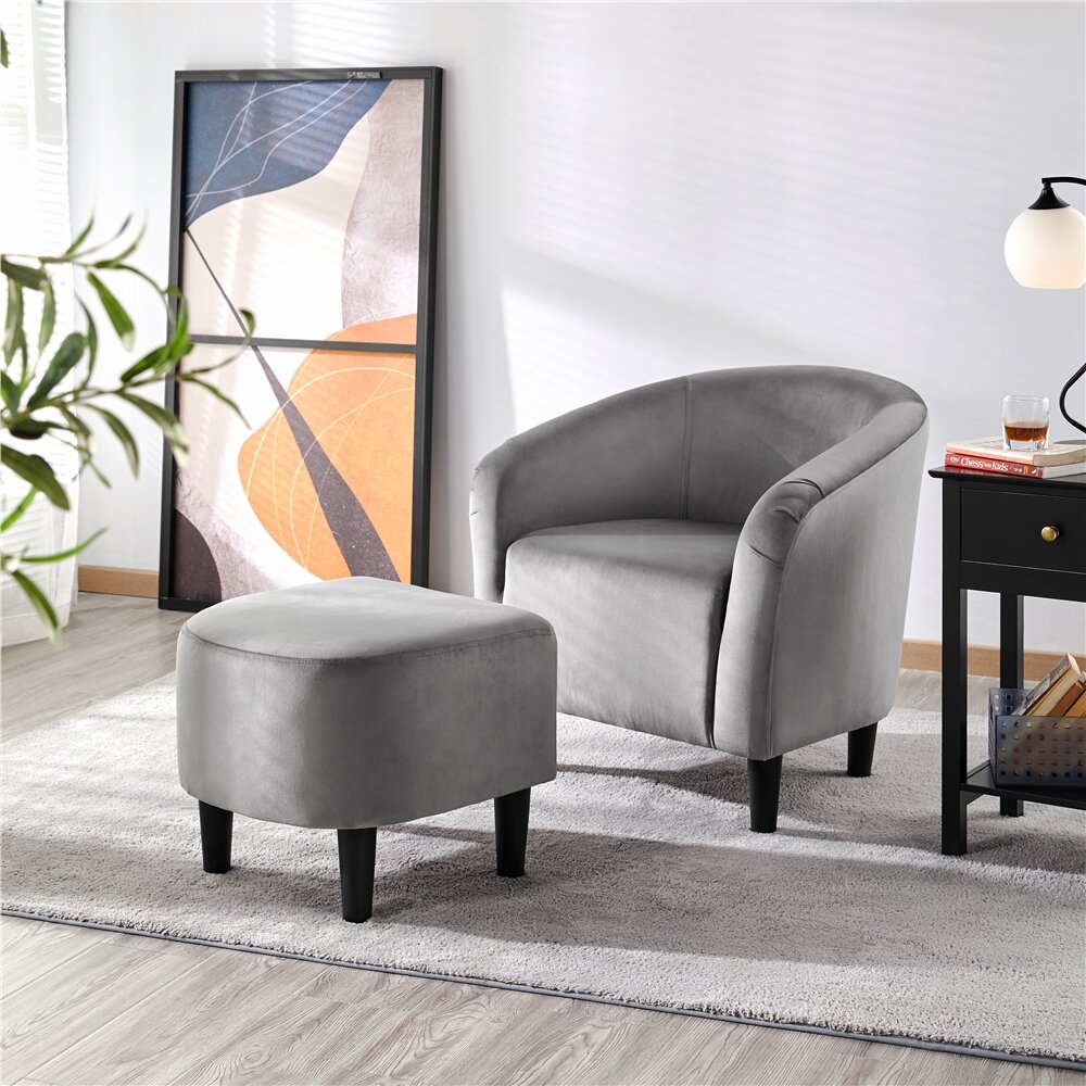 Featured Image of Riverside Drive Barrel Chair And Ottoman Sets