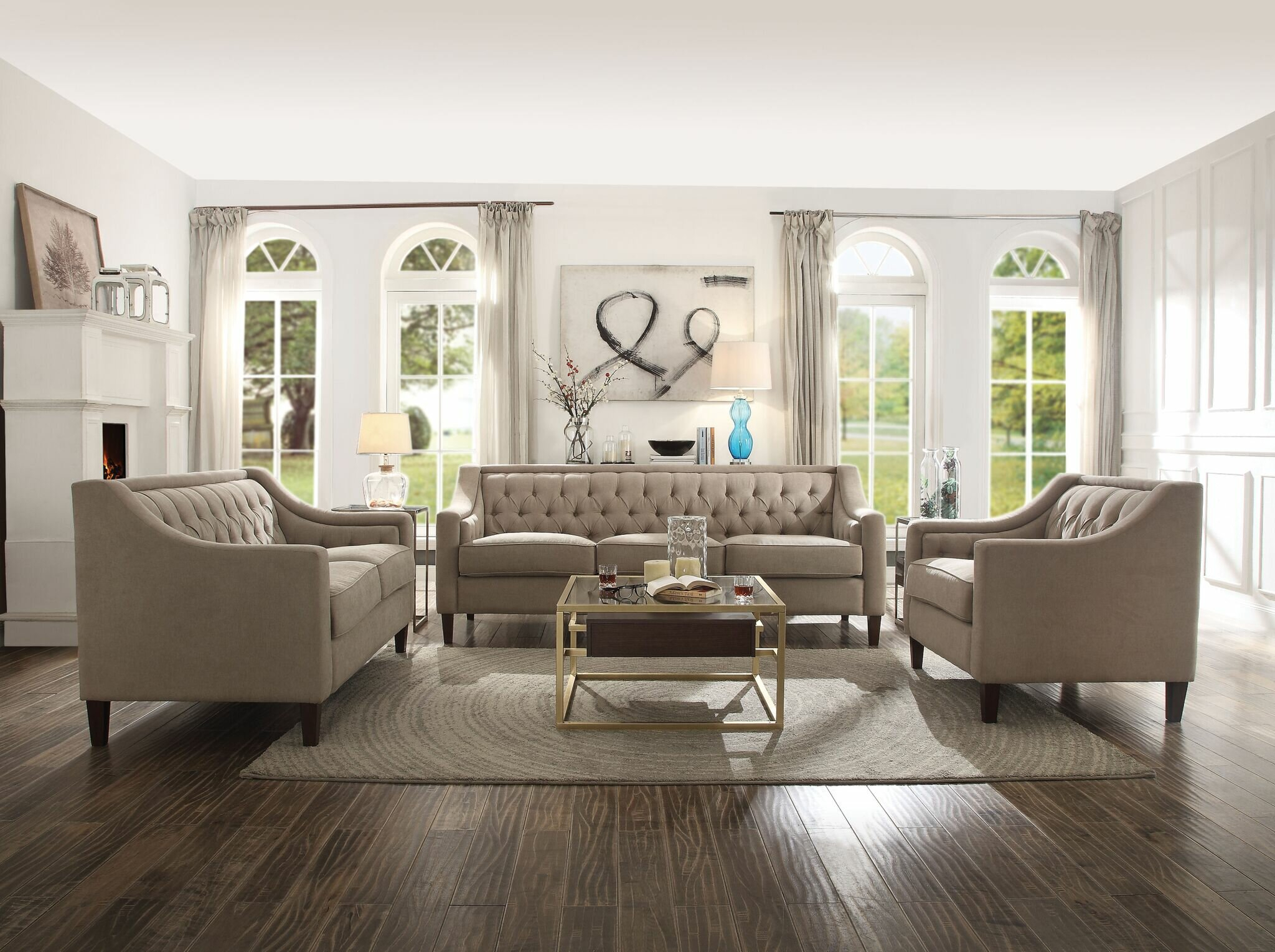 Riverside Drive Configurable Living Room Set Within Riverside Drive Barrel Chair And Ottoman Sets (View 11 of 15)