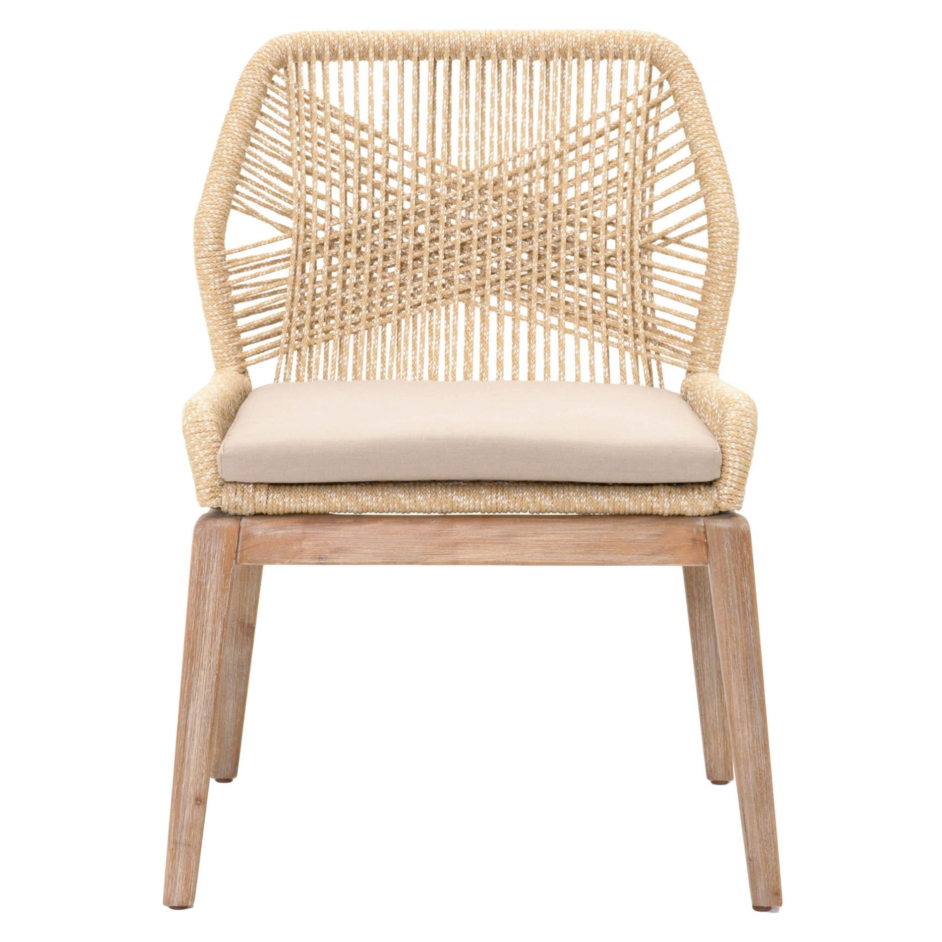 Rope Dining Chair In 2020 | Side Chairs Dining, Dining With Regard To Aime Upholstered Parsons Chairs In Beige (View 12 of 15)
