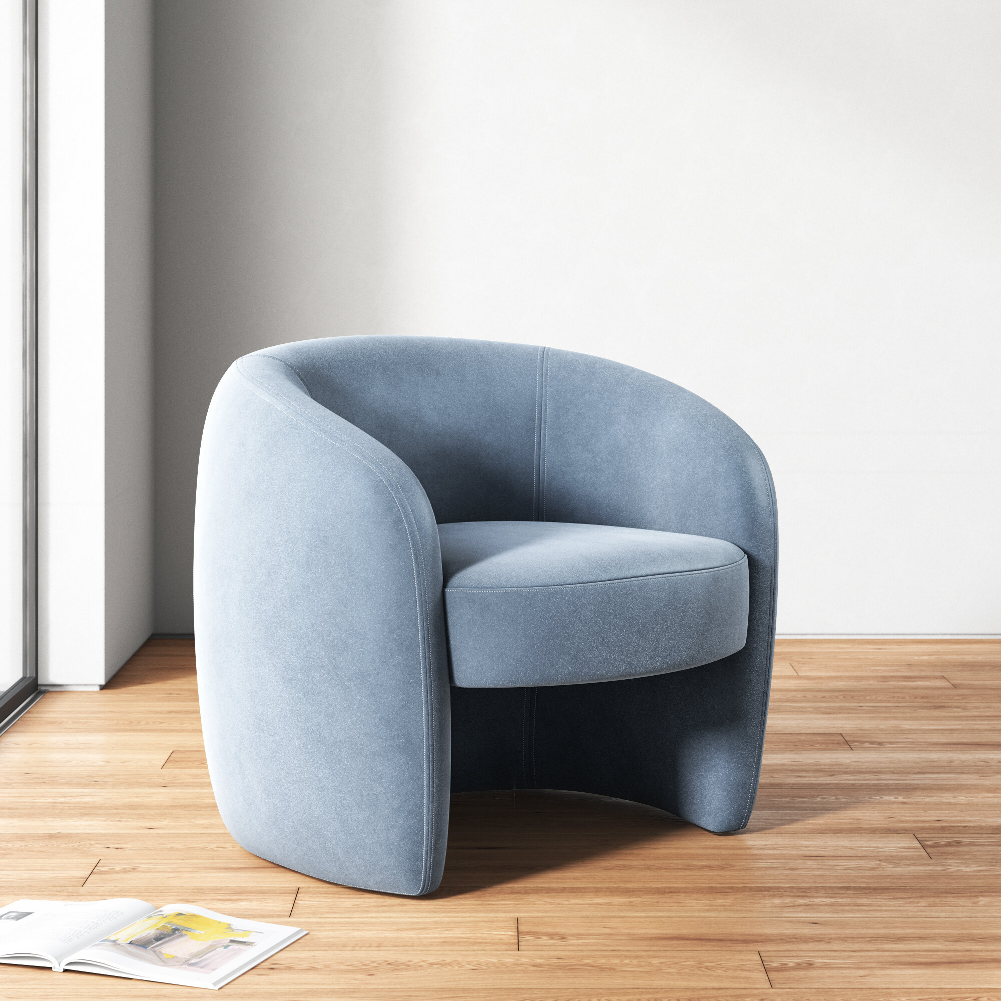 Round Arm Small Accent Chairs You'Ll Love In 2021 | Wayfair With Regard To Ansar Faux Leather Barrel Chairs (View 5 of 15)