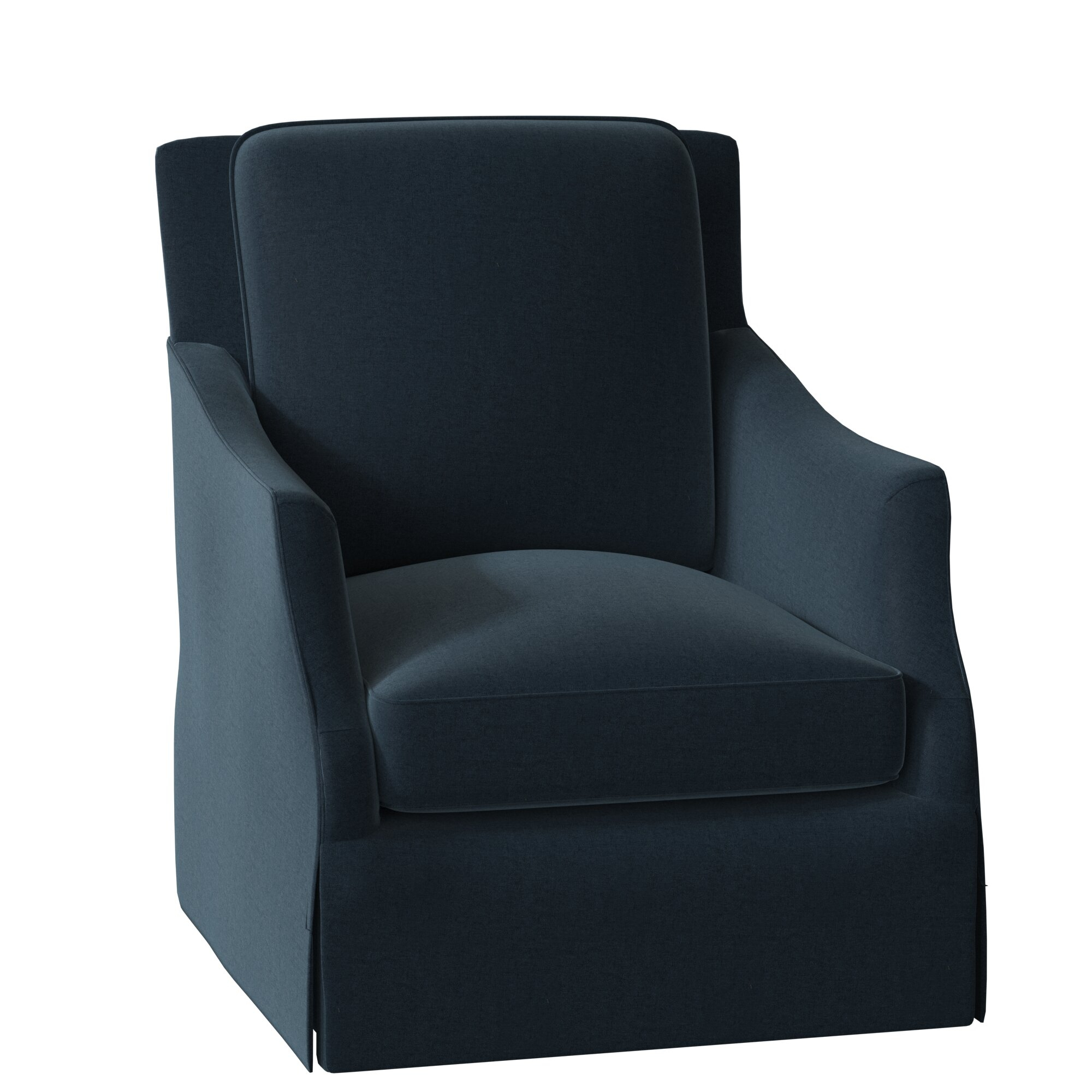 Sabine Swivel Armchair Inside Ronald Polyester Blend Armchairs (View 11 of 15)