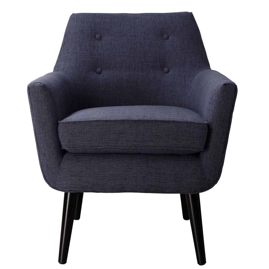 Sadie Navy Linen Chair Inside Navin Barrel Chairs (View 11 of 15)